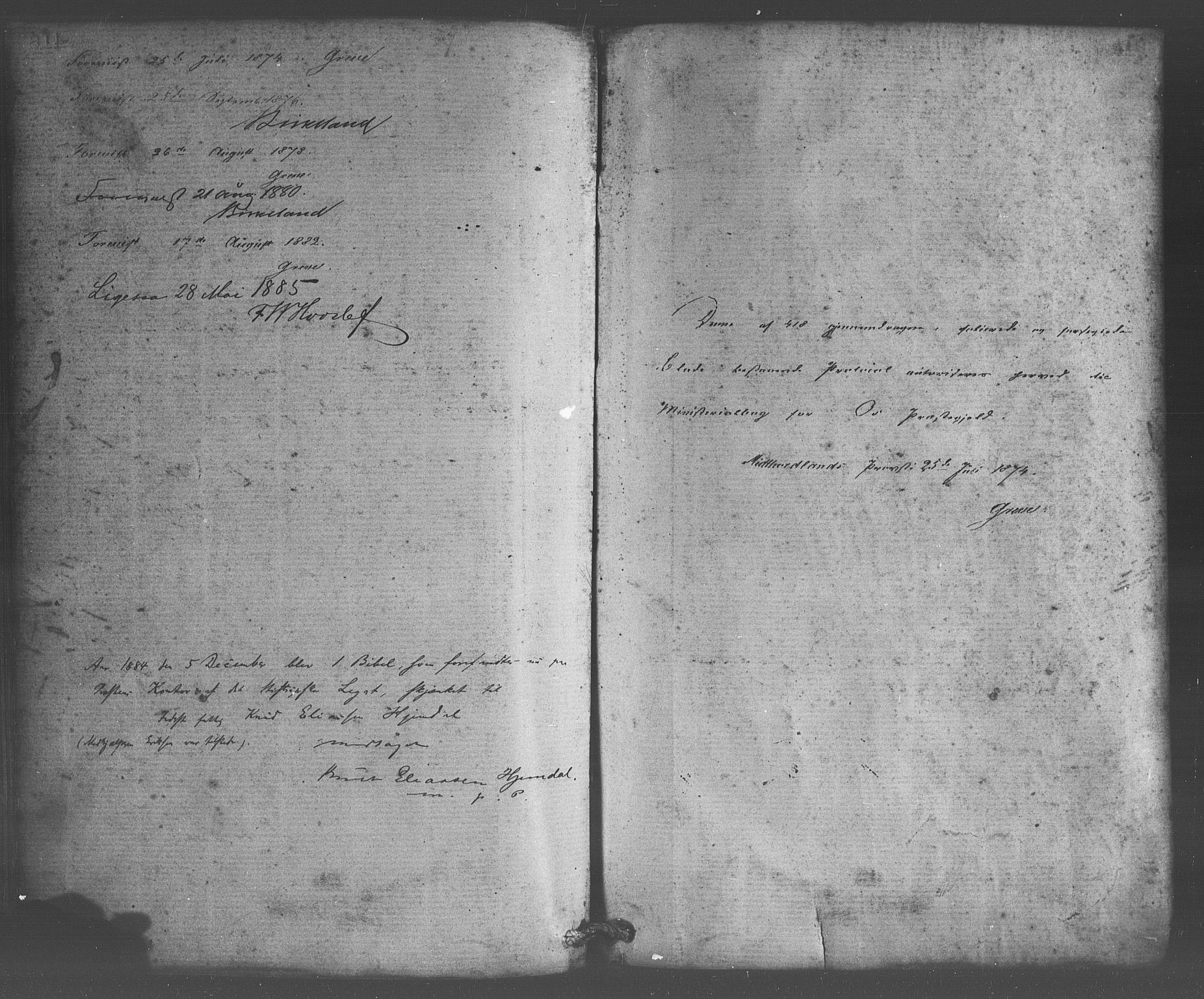 SAB, Os sokneprestembete*, Parish register (official) no. A 18, 1874-1884