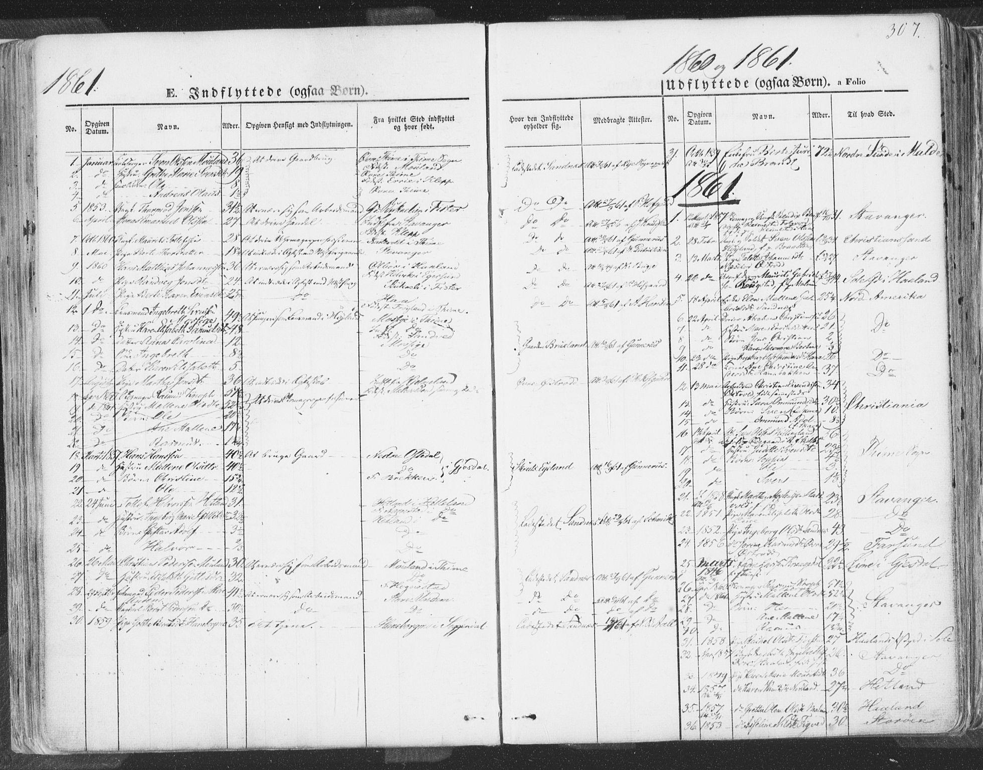 SAST, Høyland sokneprestkontor, 30BA/L0009: Parish register (official) no. A 9.2, 1857-1877, p. 307