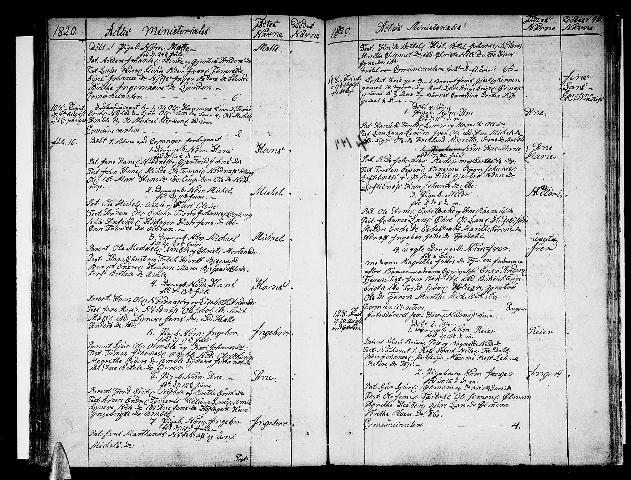 SAB, Sogndal sokneprestembete, H/Haa/Haaa/L0009: Parish register (official) no. A 9, 1809-1821, p. 146
