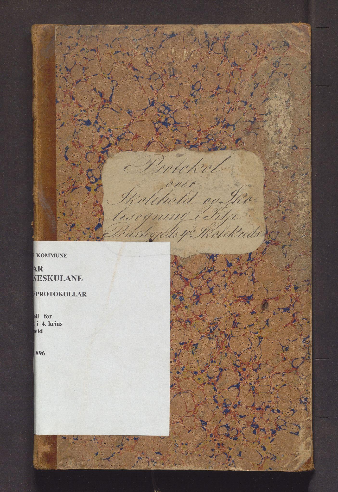 IKAH, Fitjar kommune. Barneskulane, F/Fa/L0007: Skuleprotokoll for Rimbereid krins, 1878-1896