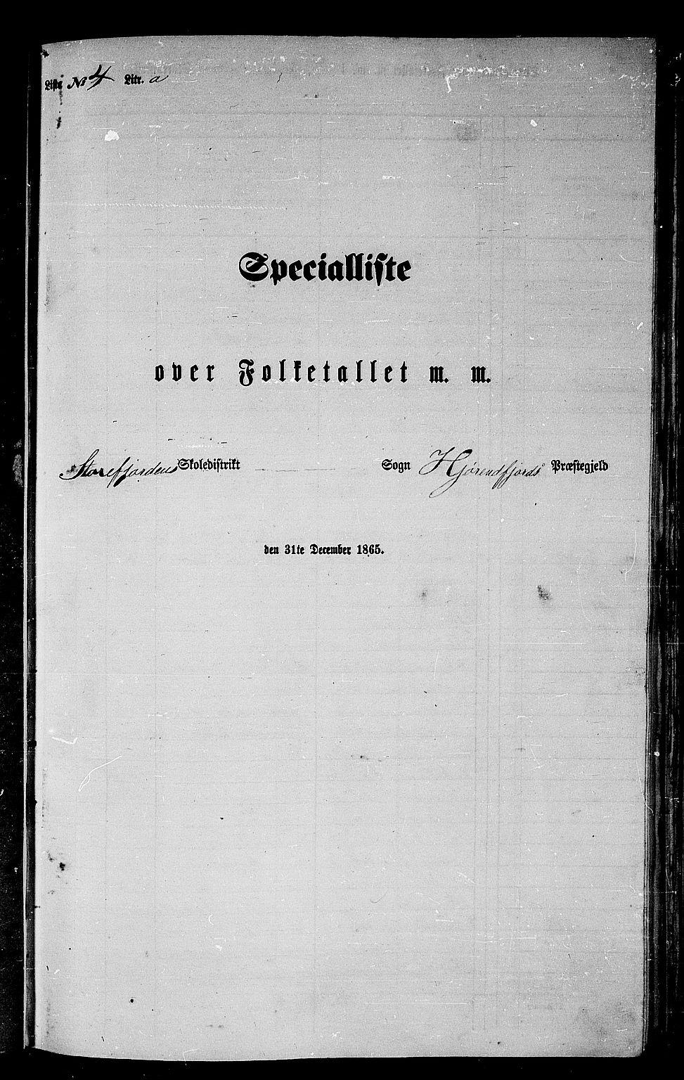 RA, 1865 census for Hjørundfjord, 1865, p. 60