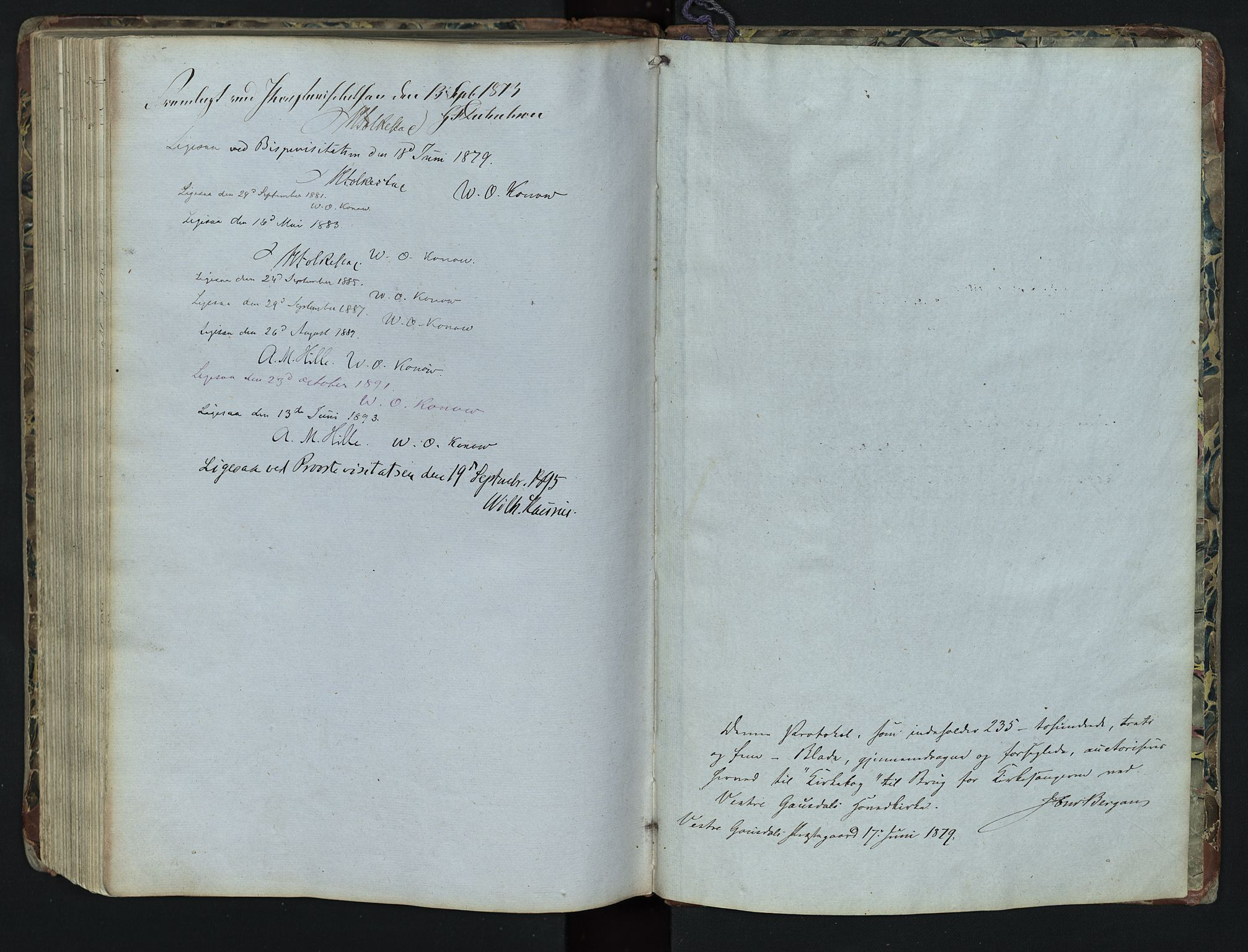 SAH, Vestre Gausdal prestekontor, Parish register (copy) no. 1, 1867-1895