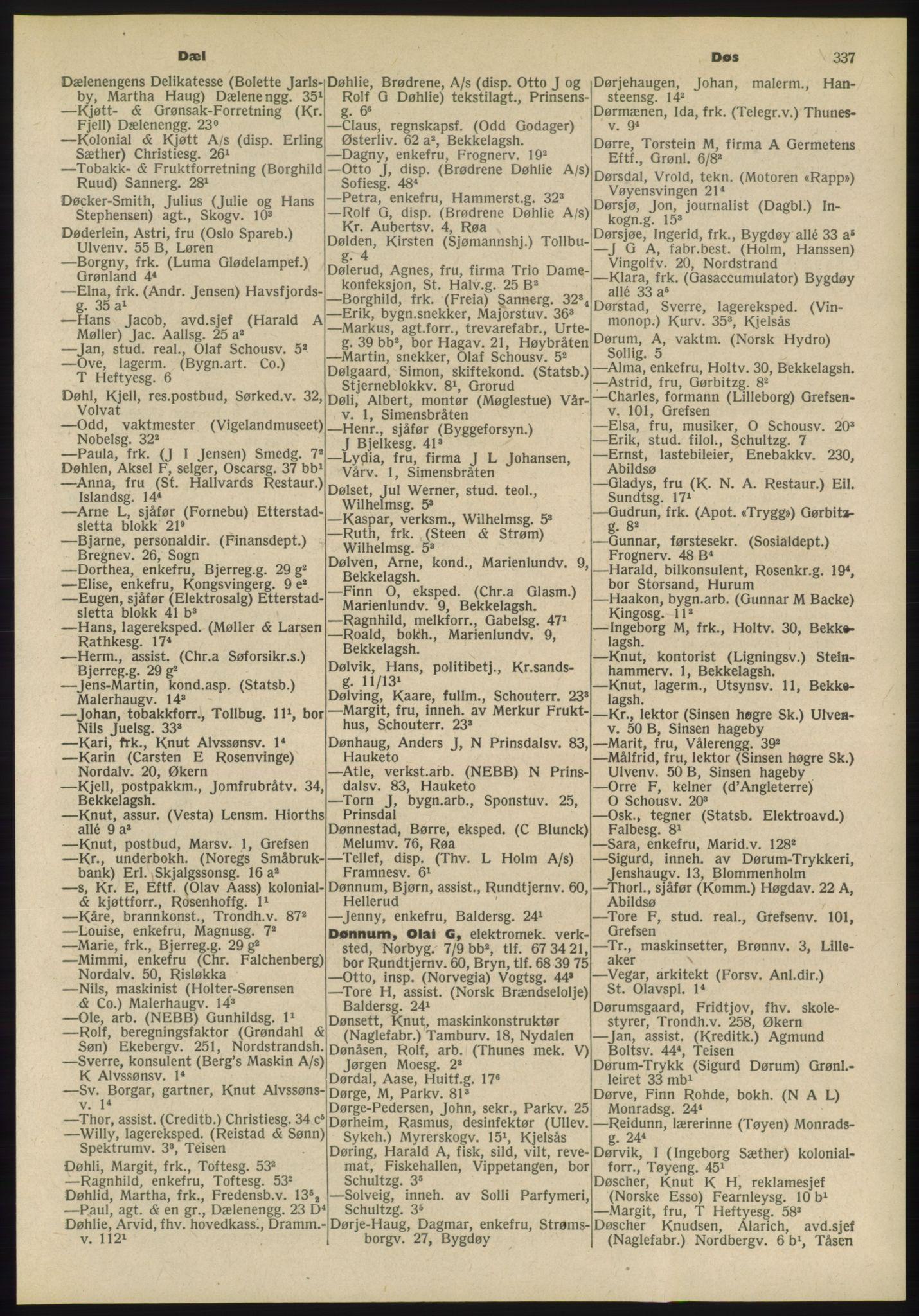 PUBL, Kristiania/Oslo adressebok, 1955, p. 337
