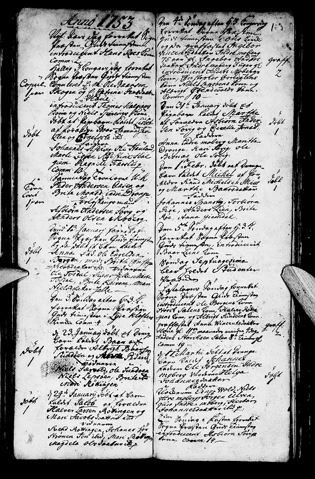 SAB, Os sokneprestembete*, Parish register (official) no. A 2, 1723-1758, p. 103