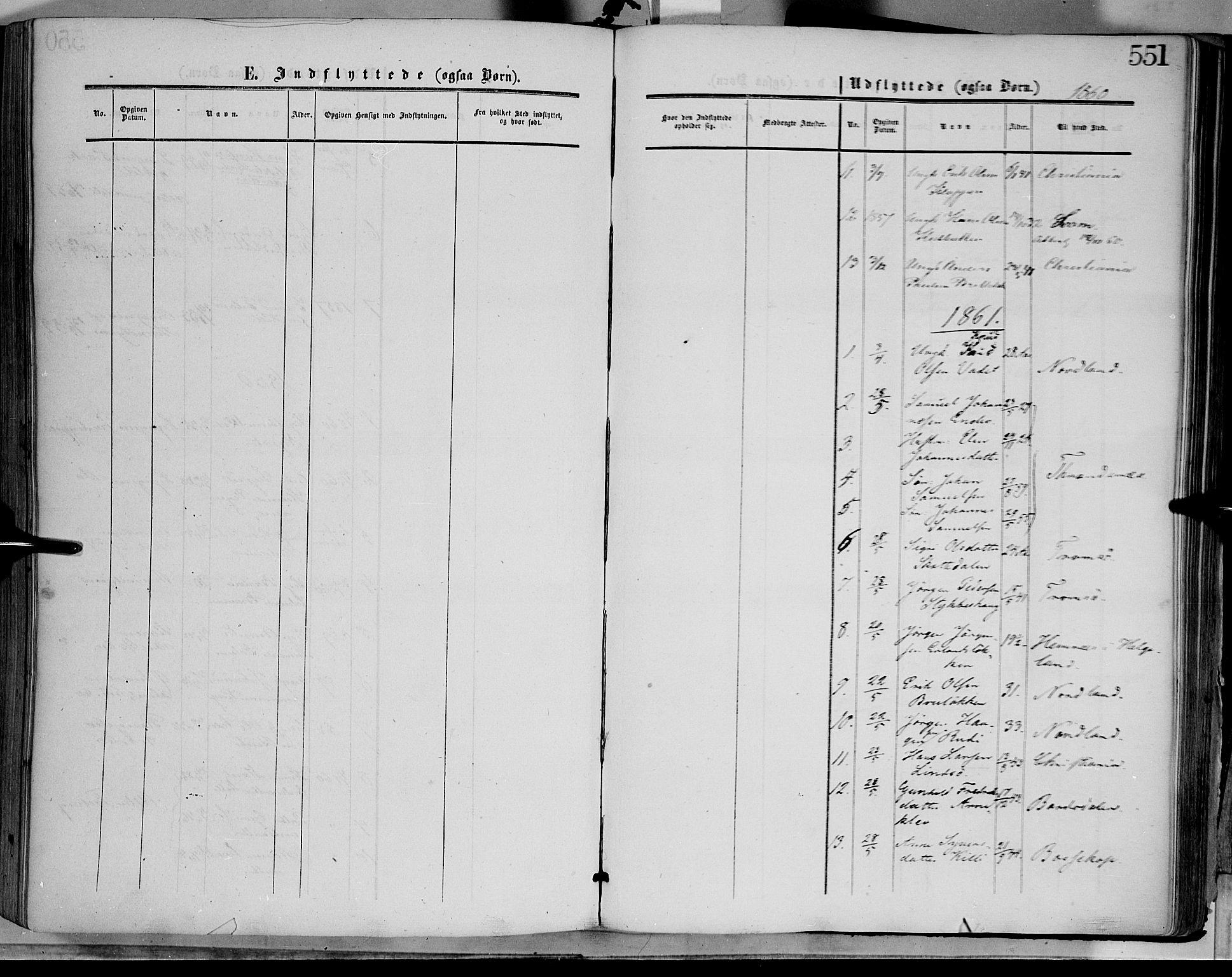 SAH, Dovre prestekontor, Parish register (official) no. 1, 1854-1878, p. 551
