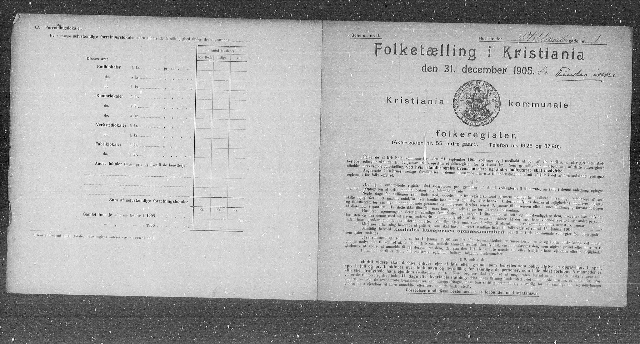 OBA, Municipal Census 1905 for Kristiania, 1905, p. 21113
