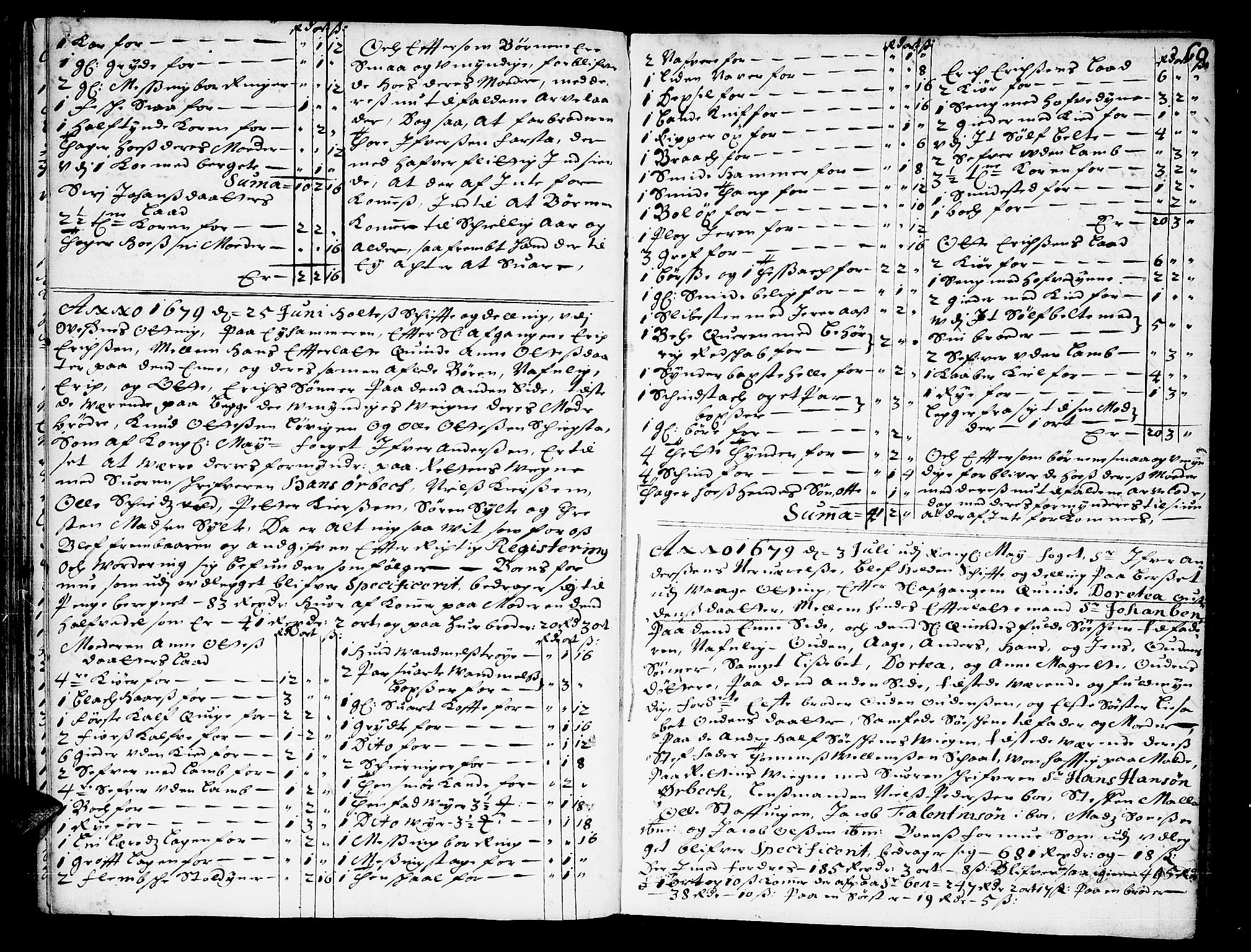 SAT, Romsdal sorenskriveri, 3/3A/L0001: Skifteprotokoll, 1677-1683, p. 59b-60a
