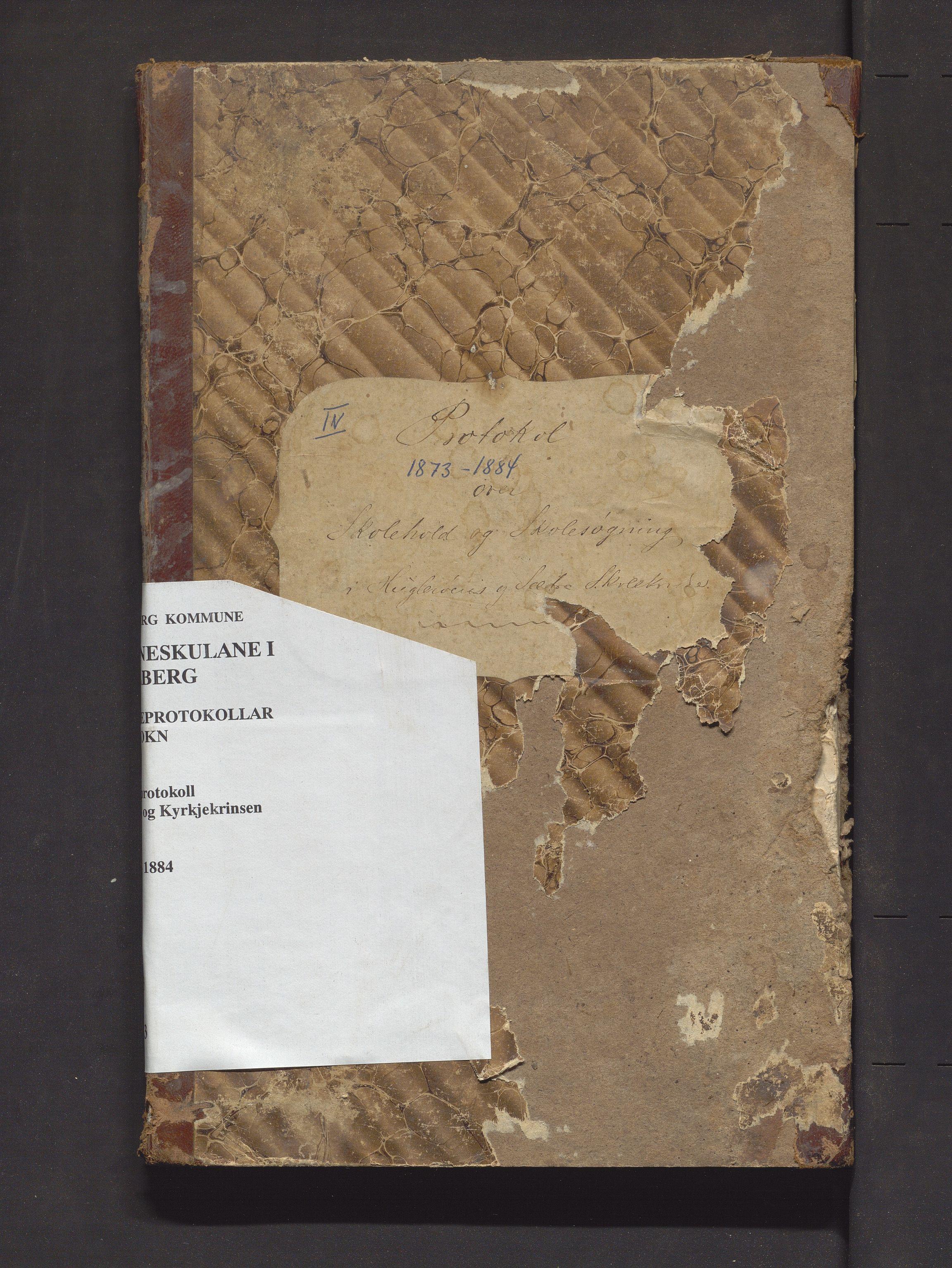 IKAH, Fjelberg kommune. Barneskulane, F/Fb/L0003: Skuleprotokoll for Huglo, Kyrkjekrinsen og Sætre krinsar, 1873-1884