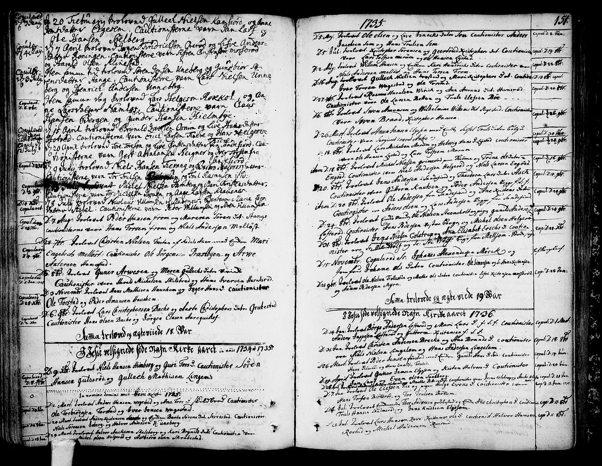 SAKO, Sandar kirkebøker, F/Fa/L0002: Parish register (official) no. 2, 1733-1788, p. 151