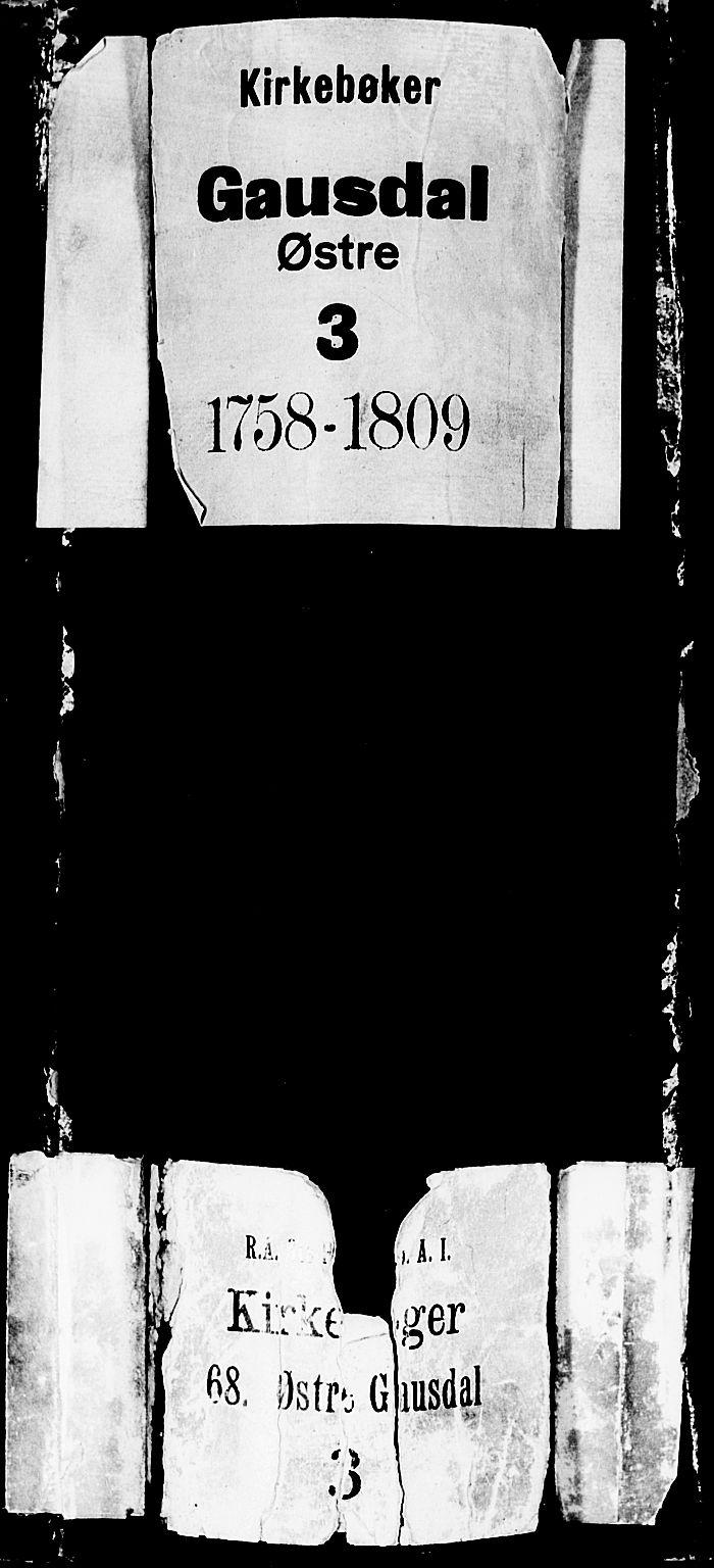 SAH, Gausdal prestekontor, Parish register (official) no. 3, 1758-1809