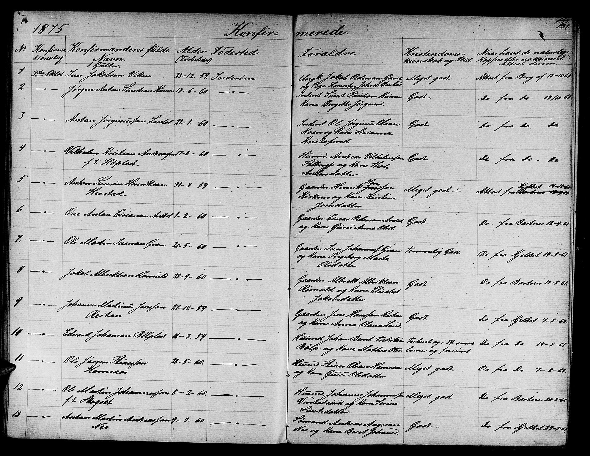 SAT, Ministerialprotokoller, klokkerbøker og fødselsregistre - Nord-Trøndelag, 730/L0300: Parish register (copy) no. 730C03, 1872-1879, p. 137