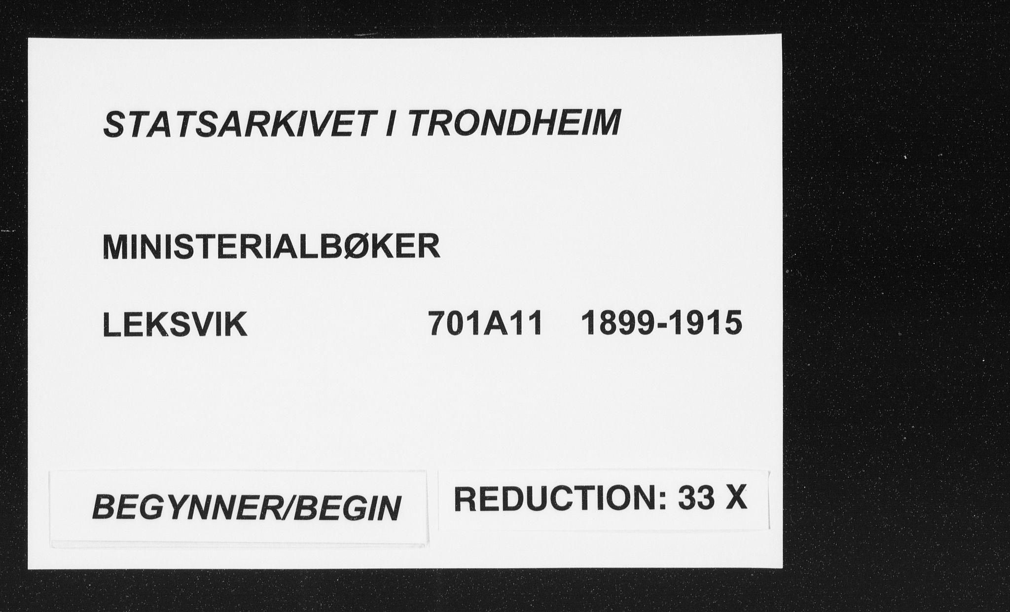 SAT, Ministerialprotokoller, klokkerbøker og fødselsregistre - Nord-Trøndelag, 701/L0011: Parish register (official) no. 701A11, 1899-1915