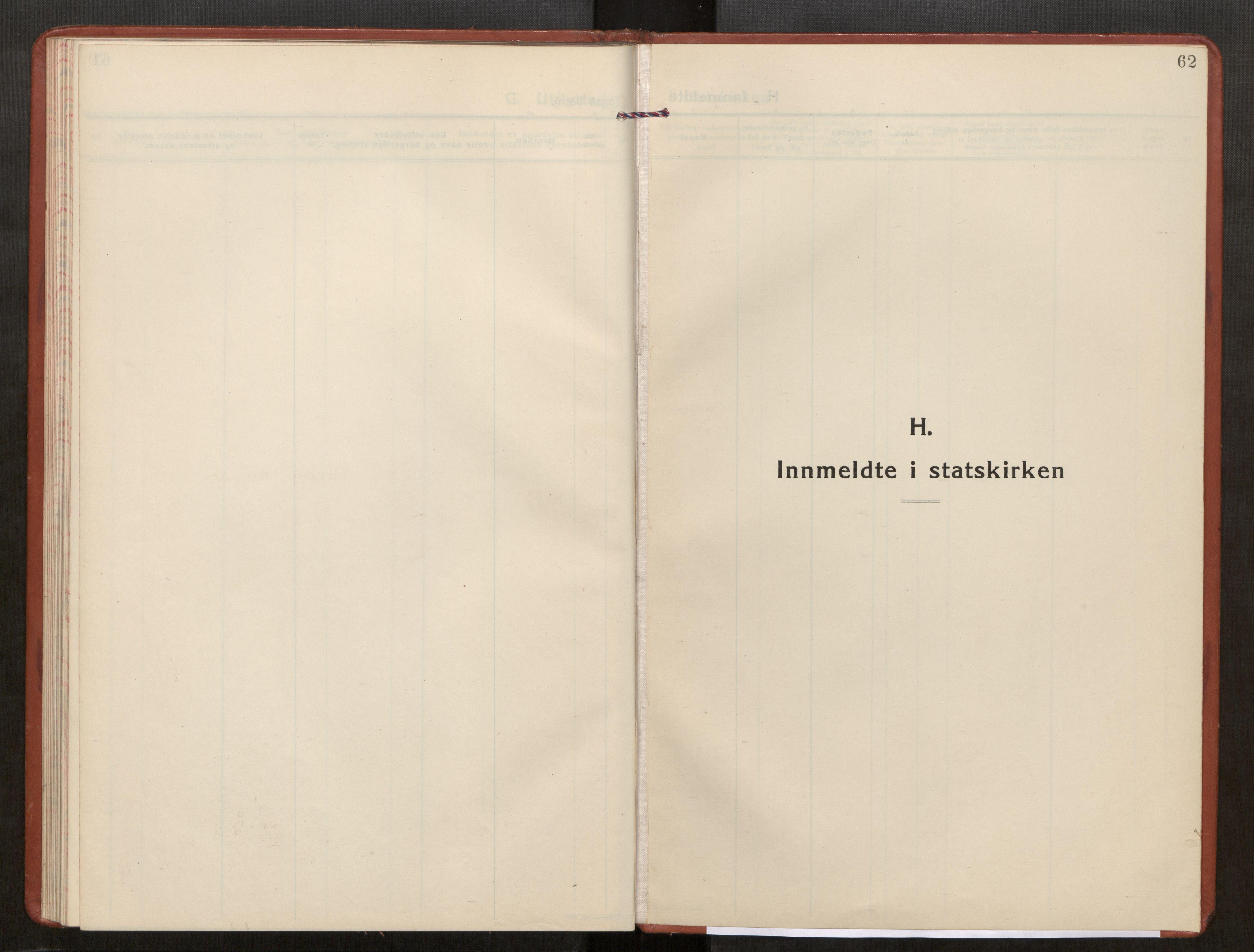 SAT, Kolvereid sokneprestkontor, H/Ha/Haa/L0003: Parish register (official) no. 3, 1927-1935, p. 62