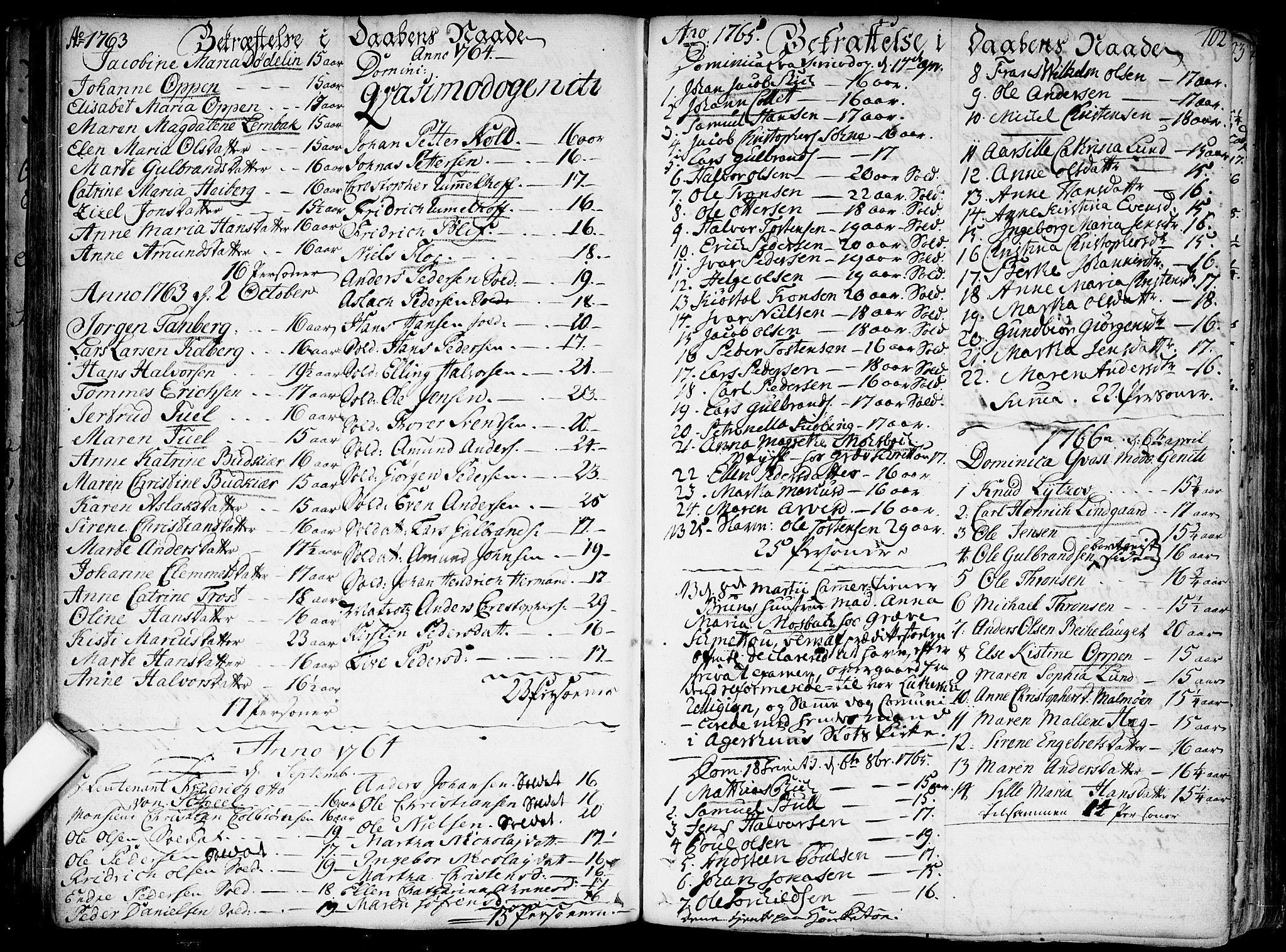 SAO, Garnisonsmenigheten Kirkebøker, F/Fa/L0002: Parish register (official) no. 2, 1757-1776, p. 102