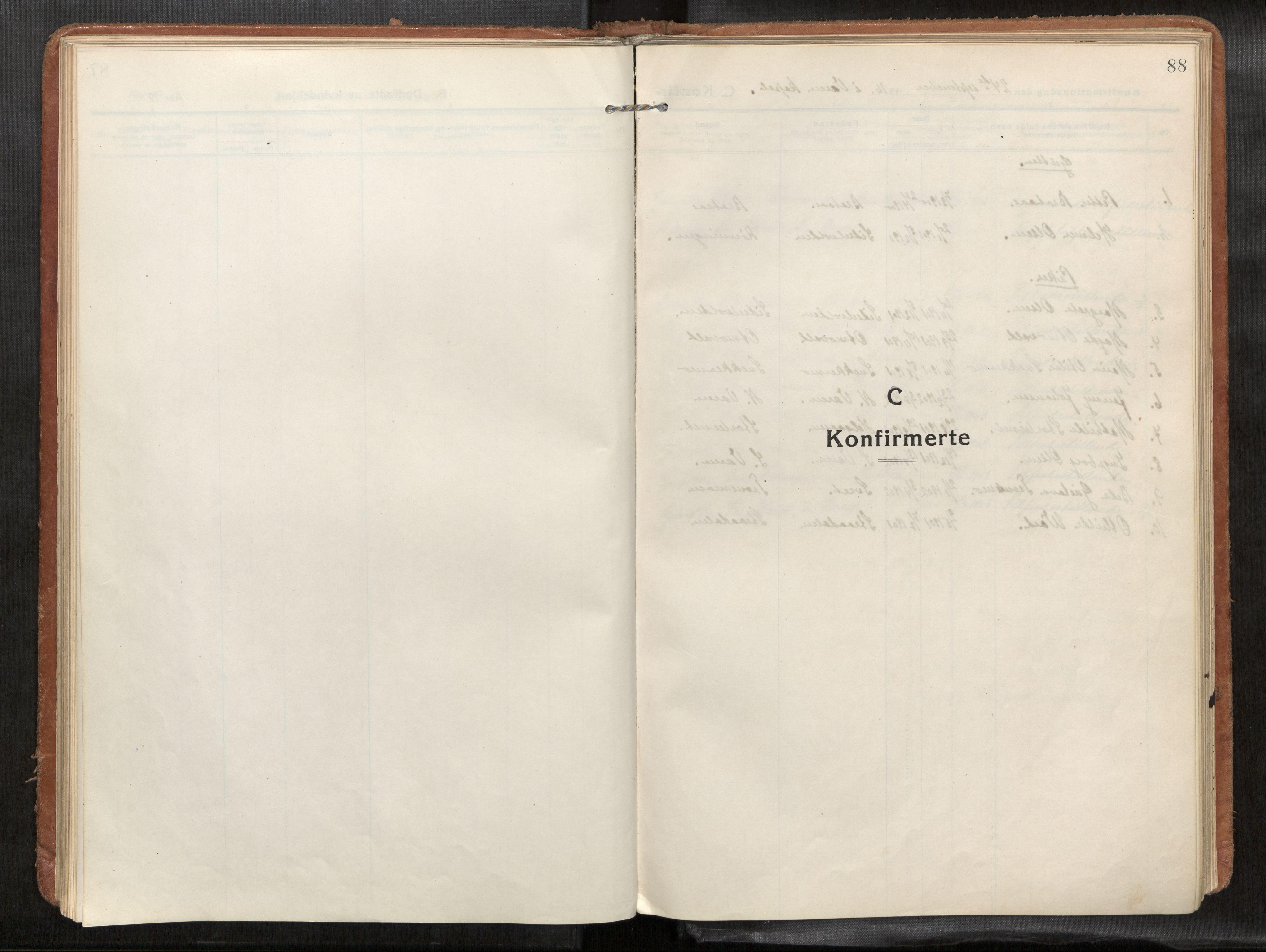 SAT, Verdal sokneprestkontor*, Parish register (official) no. 1, 1916-1928, p. 88