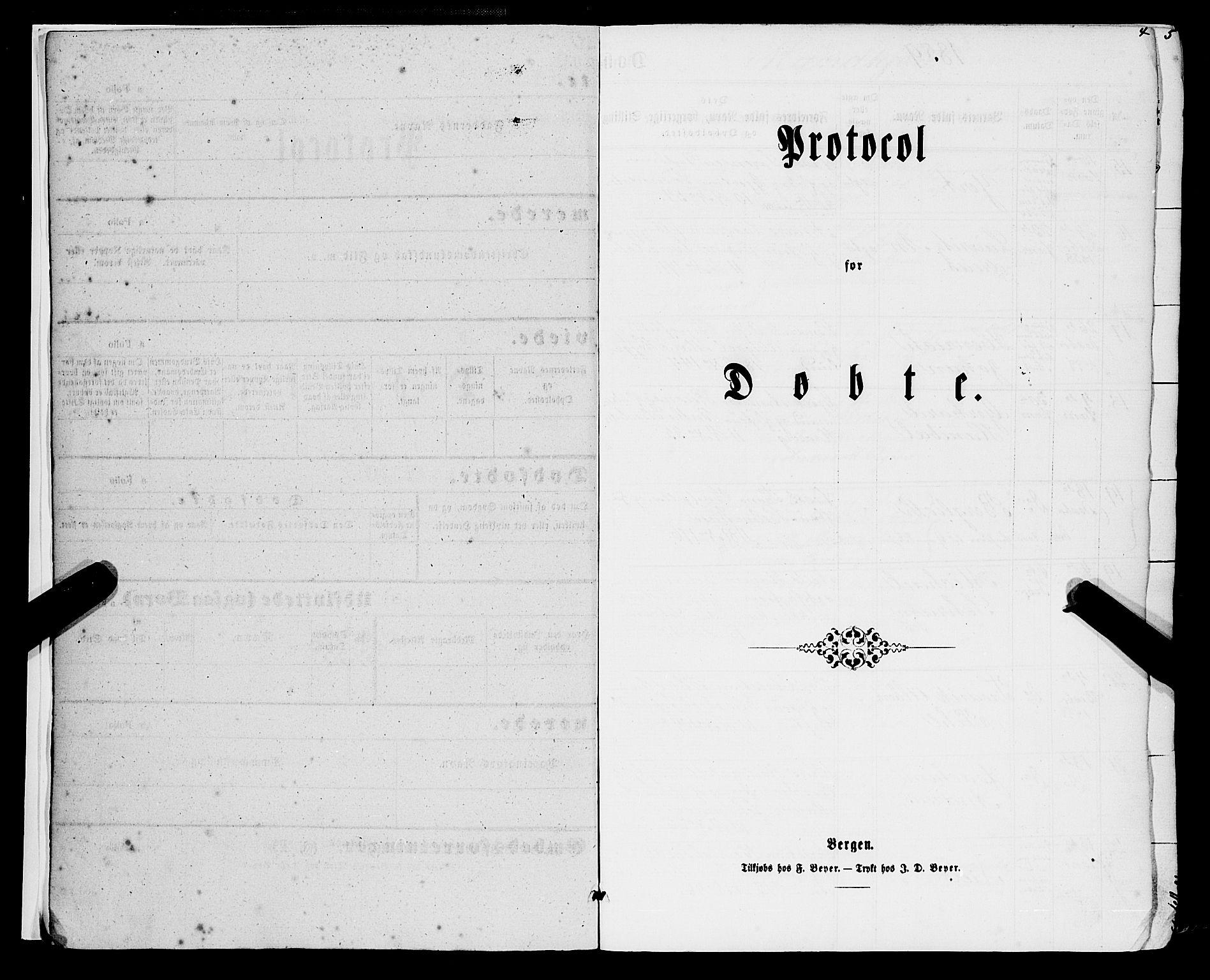 SAB, Domkirken sokneprestembete, H/Haa/L0021: Parish register (official) no. B 4, 1859-1871, p. 4