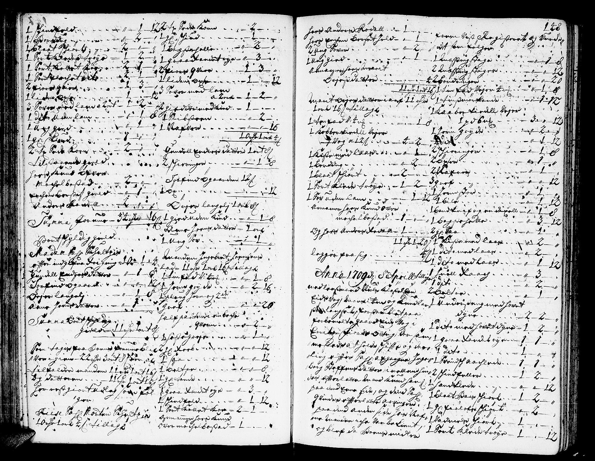 SAT, Romsdal sorenskriveri, 3/3A/L0005: Skifteprotokoll, 1707-1711, p. 147b-148a