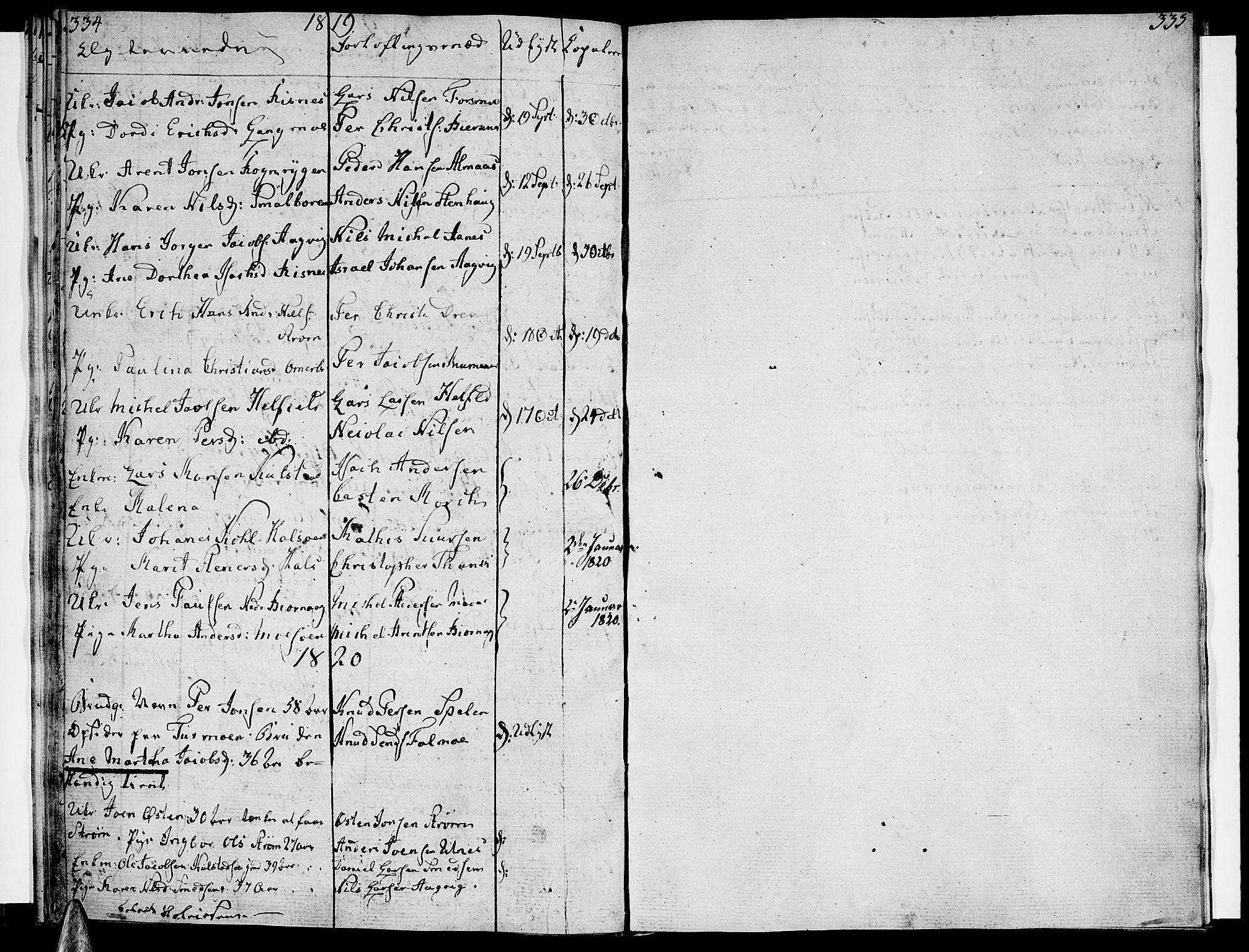SAT, Ministerialprotokoller, klokkerbøker og fødselsregistre - Nordland, 820/L0287: Parish register (official) no. 820A08, 1800-1819, p. 334-335