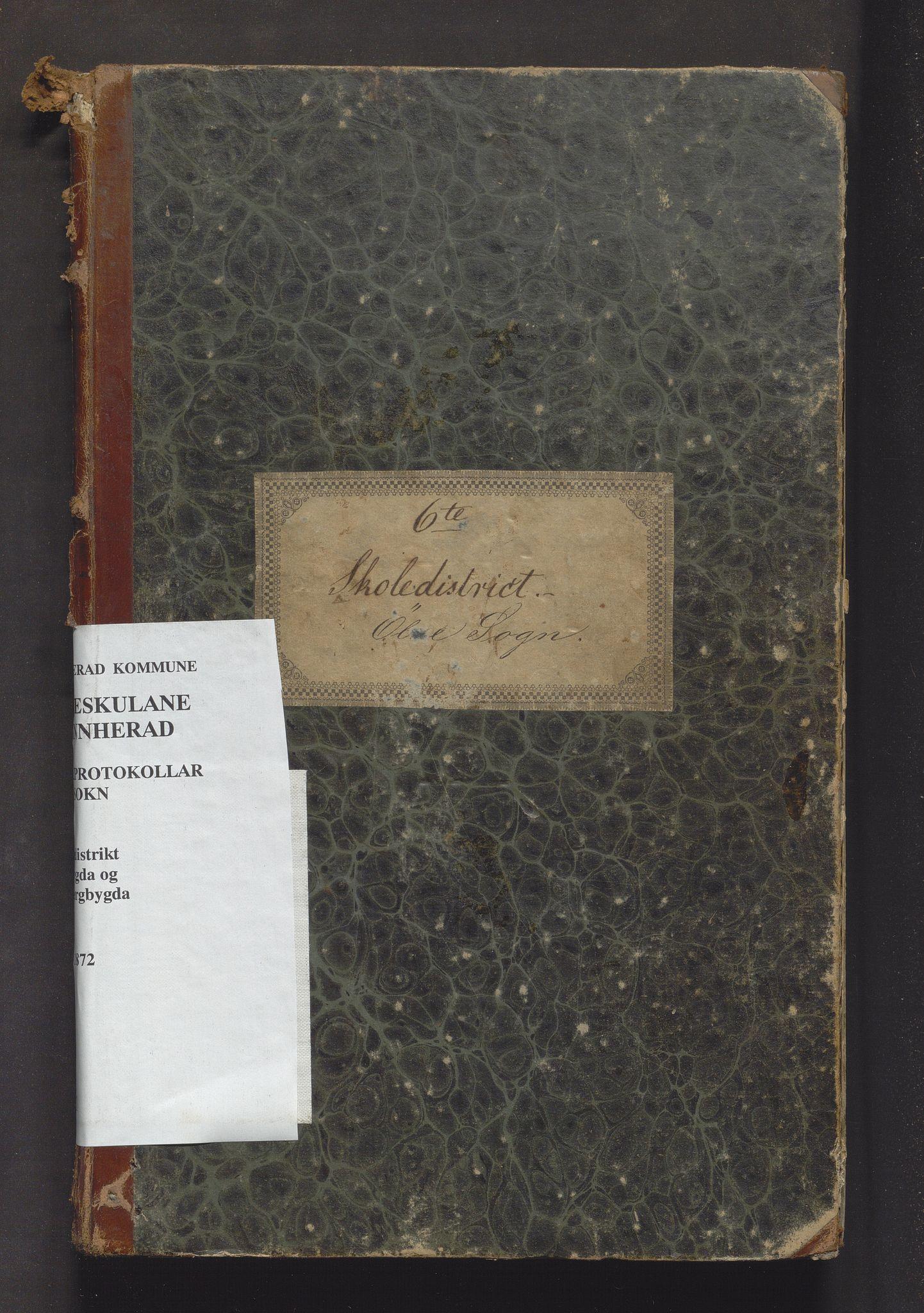 IKAH, Kvinnherad kommune. Barneskulane, F/Fb/L0001: Skuleprotokoll for Ølvesbygden og Fuglebergbygden i 6. skuledistrikt, 1846-1872