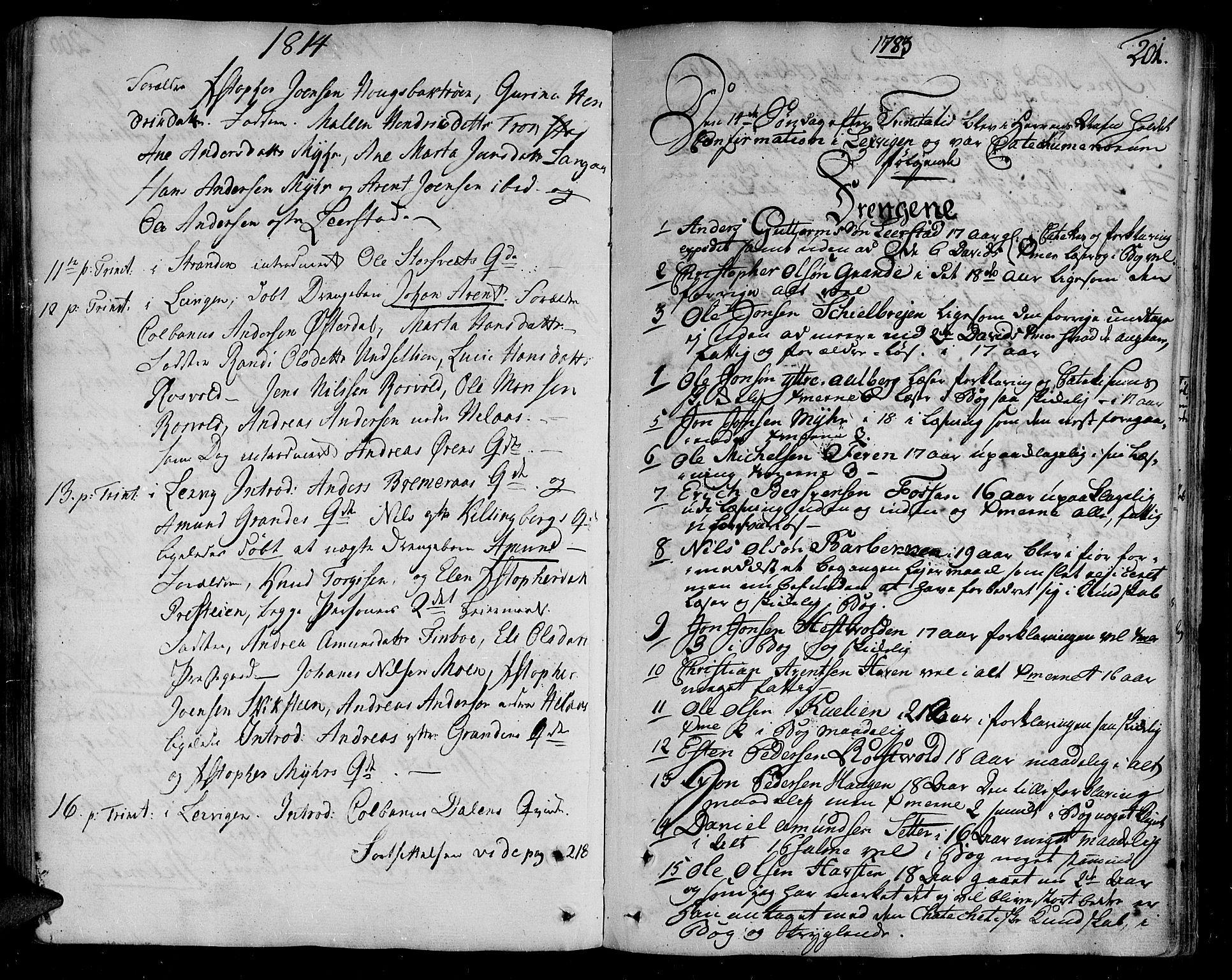 SAT, Ministerialprotokoller, klokkerbøker og fødselsregistre - Nord-Trøndelag, 701/L0004: Parish register (official) no. 701A04, 1783-1816, p. 201