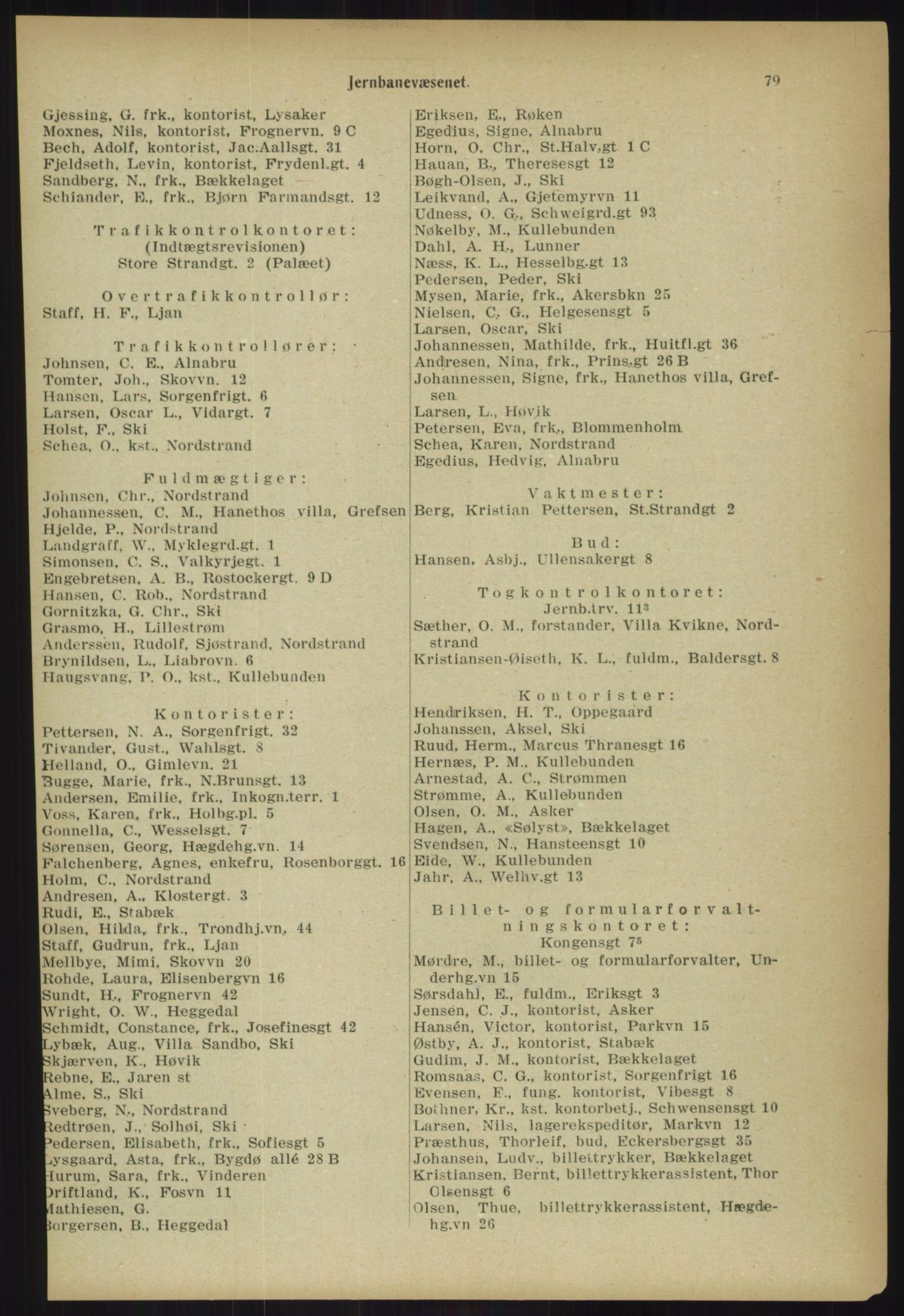 PUBL, Kristiania/Oslo adressebok, 1918, p. 86