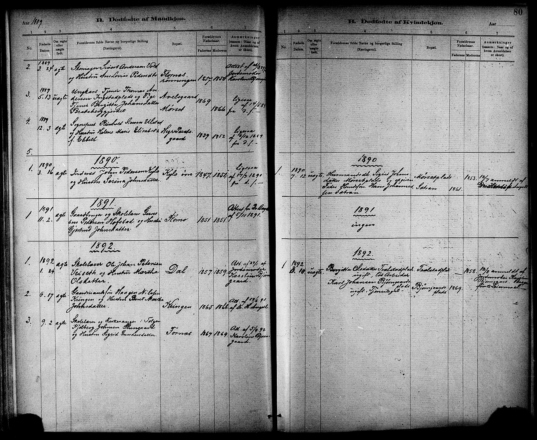 SAT, Ministerialprotokoller, klokkerbøker og fødselsregistre - Nord-Trøndelag, 703/L0030: Parish register (official) no. 703A03, 1880-1892, p. 80