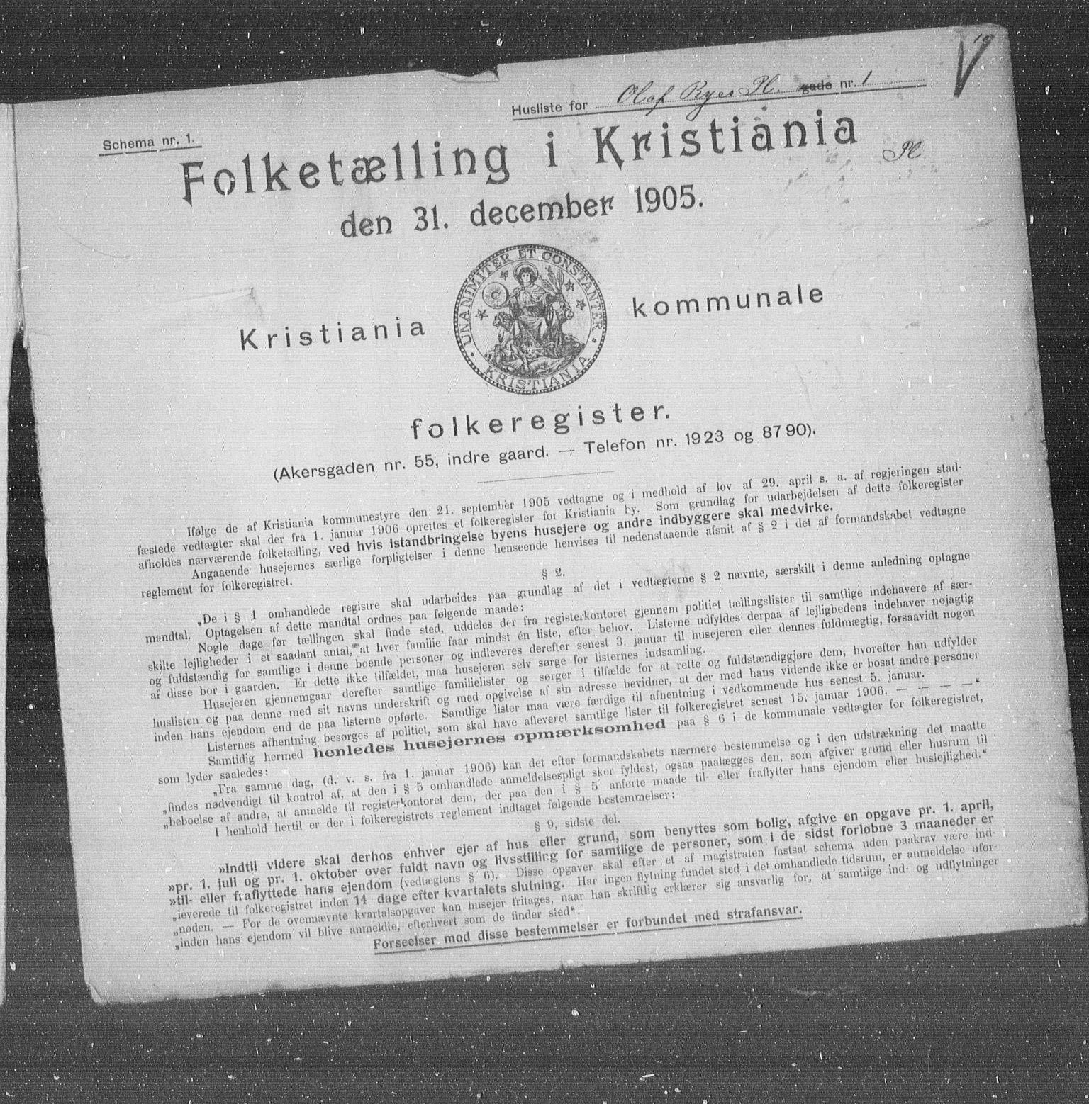 OBA, Municipal Census 1905 for Kristiania, 1905, p. 39508