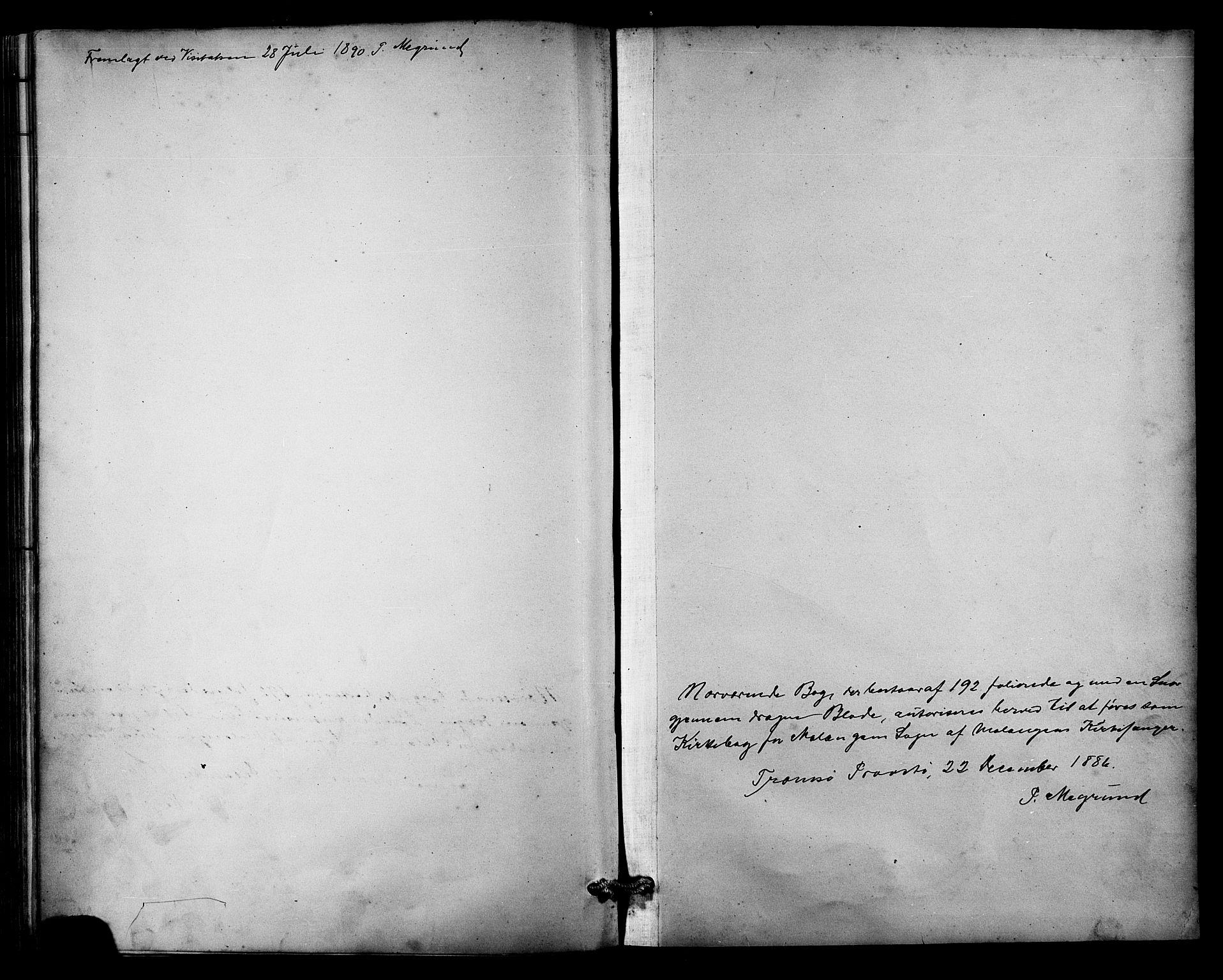SATØ, Balsfjord sokneprestembete, Parish register (copy) no. 3, 1887-1909