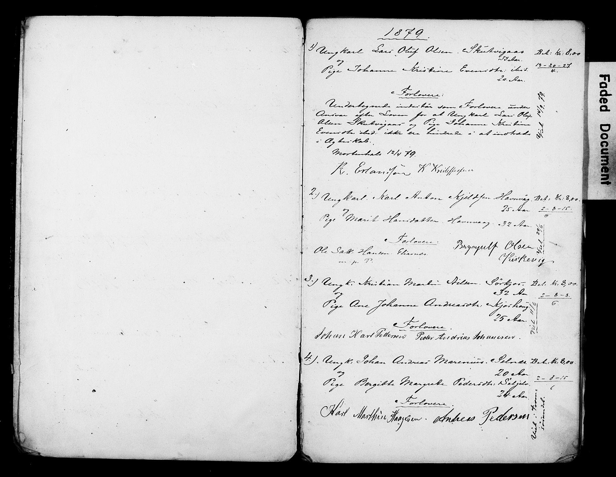 SATØ, Balsfjord sokneprestembete, Banns register no. 29, 1879-1893
