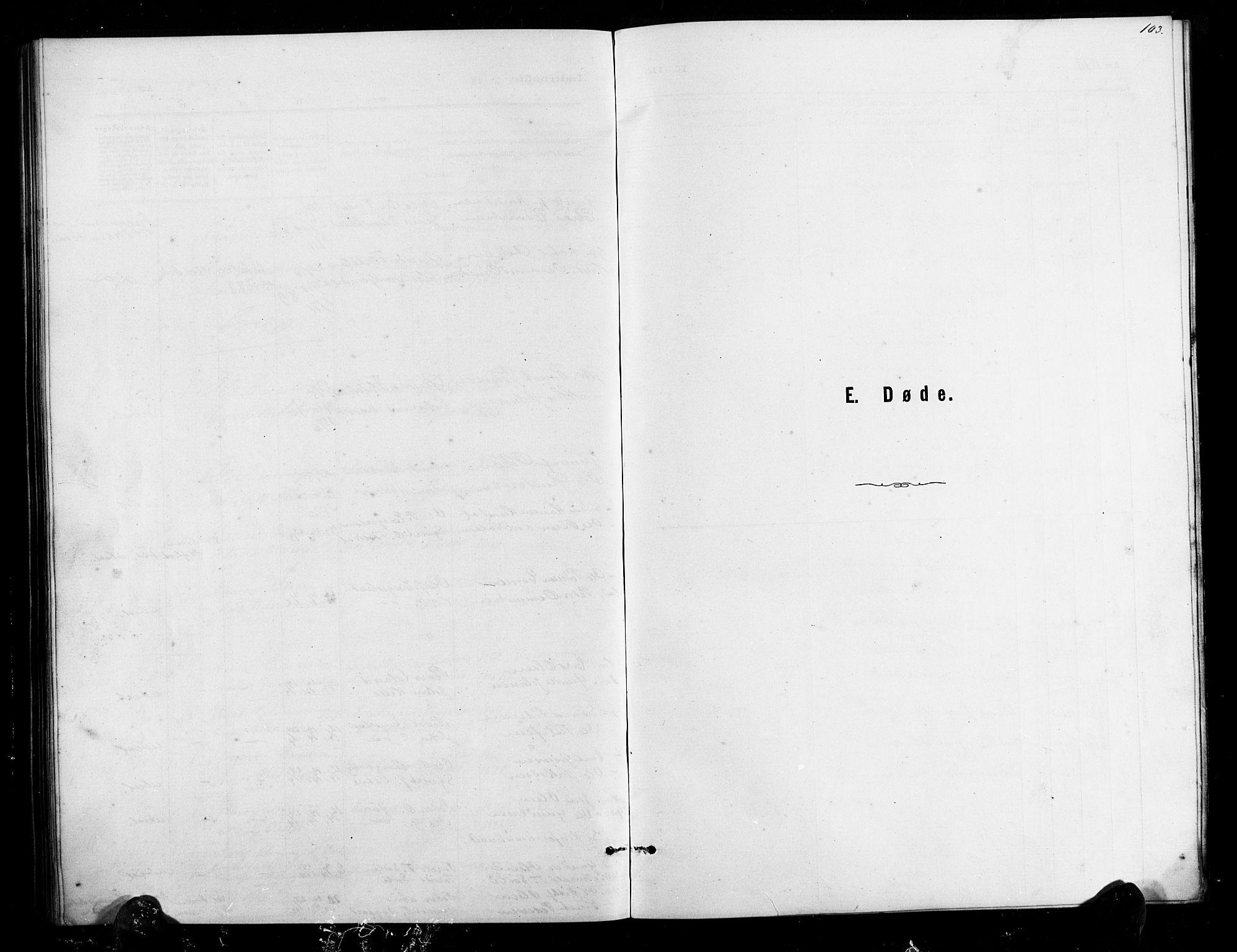 SAK, Herefoss sokneprestkontor, F/Fb/Fbb/L0002: Parish register (copy) no. B 2, 1879-1894, p. 103