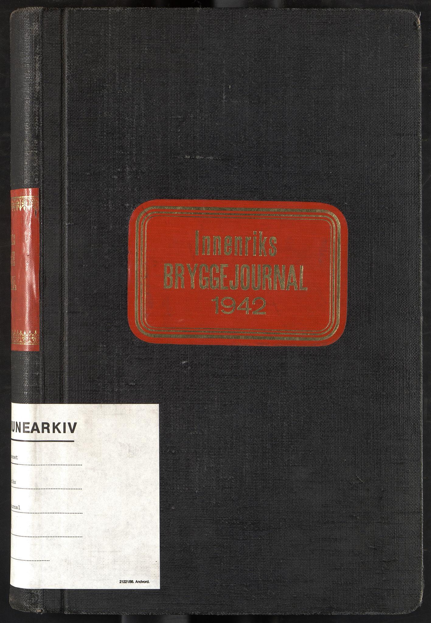 OBA, Oslo havnevesen, Fa/Fad/L0054: Innenriks bryggejournal, 1942