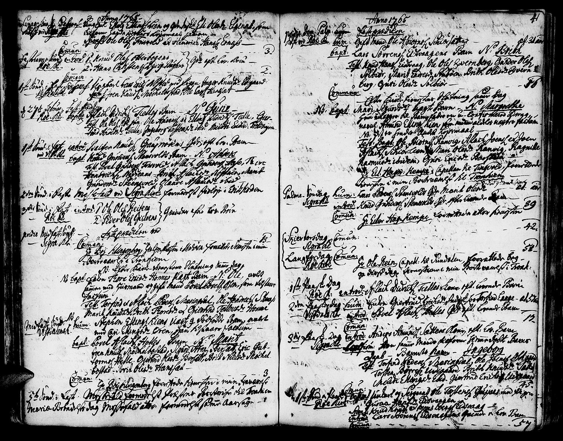SAT, Ministerialprotokoller, klokkerbøker og fødselsregistre - Møre og Romsdal, 551/L0621: Parish register (official) no. 551A01, 1757-1803, p. 41