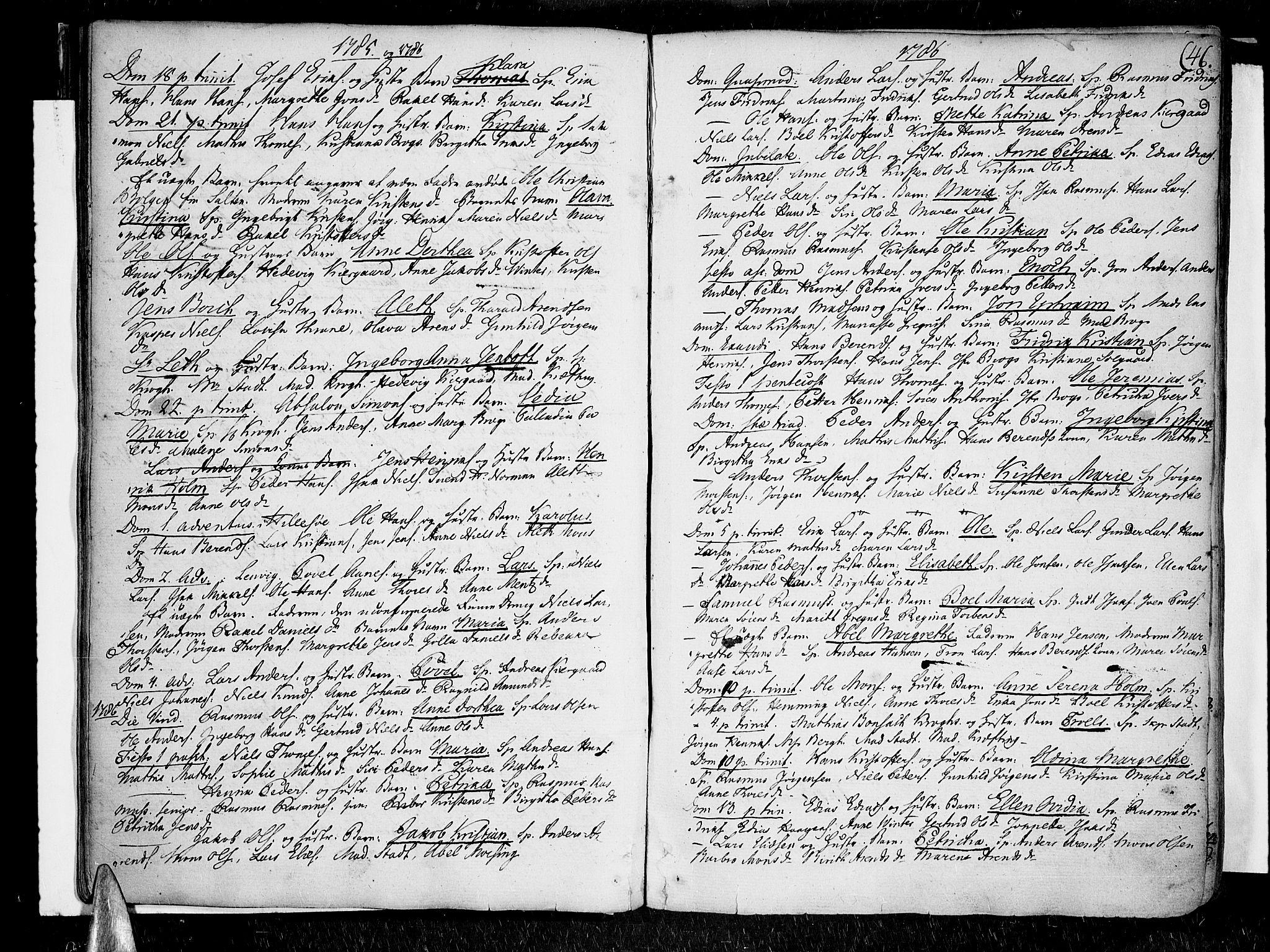 SATØ, Lenvik sokneprestembete, H/Ha/Haa/L0002kirke: Parish register (official) no. 2, 1784-1820, p. 46