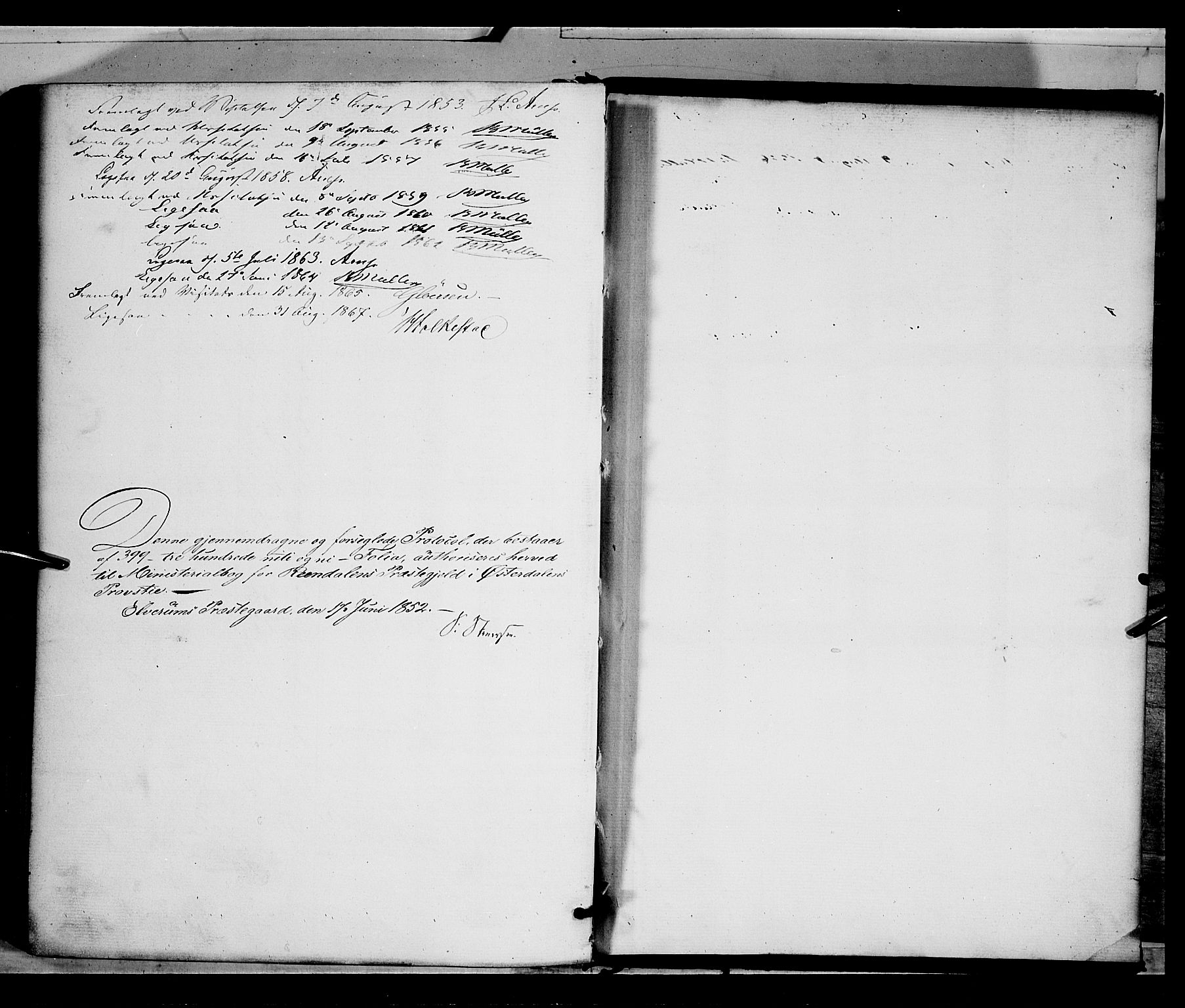 SAH, Rendalen prestekontor, H/Ha/Haa/L0005: Parish register (official) no. 5, 1853-1866