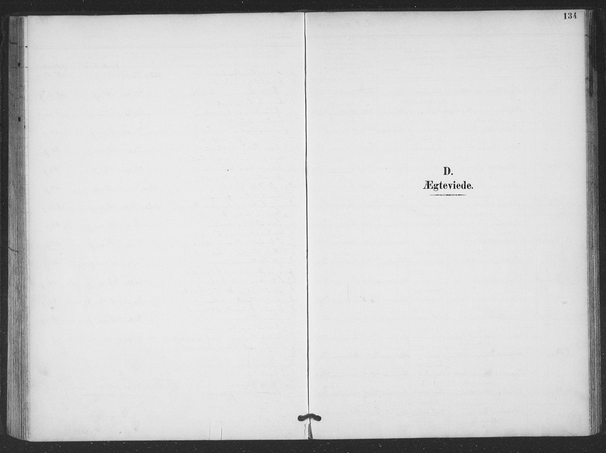 SAT, Ministerialprotokoller, klokkerbøker og fødselsregistre - Nordland, 866/L0939: Parish register (official) no. 866A02, 1894-1906, p. 134