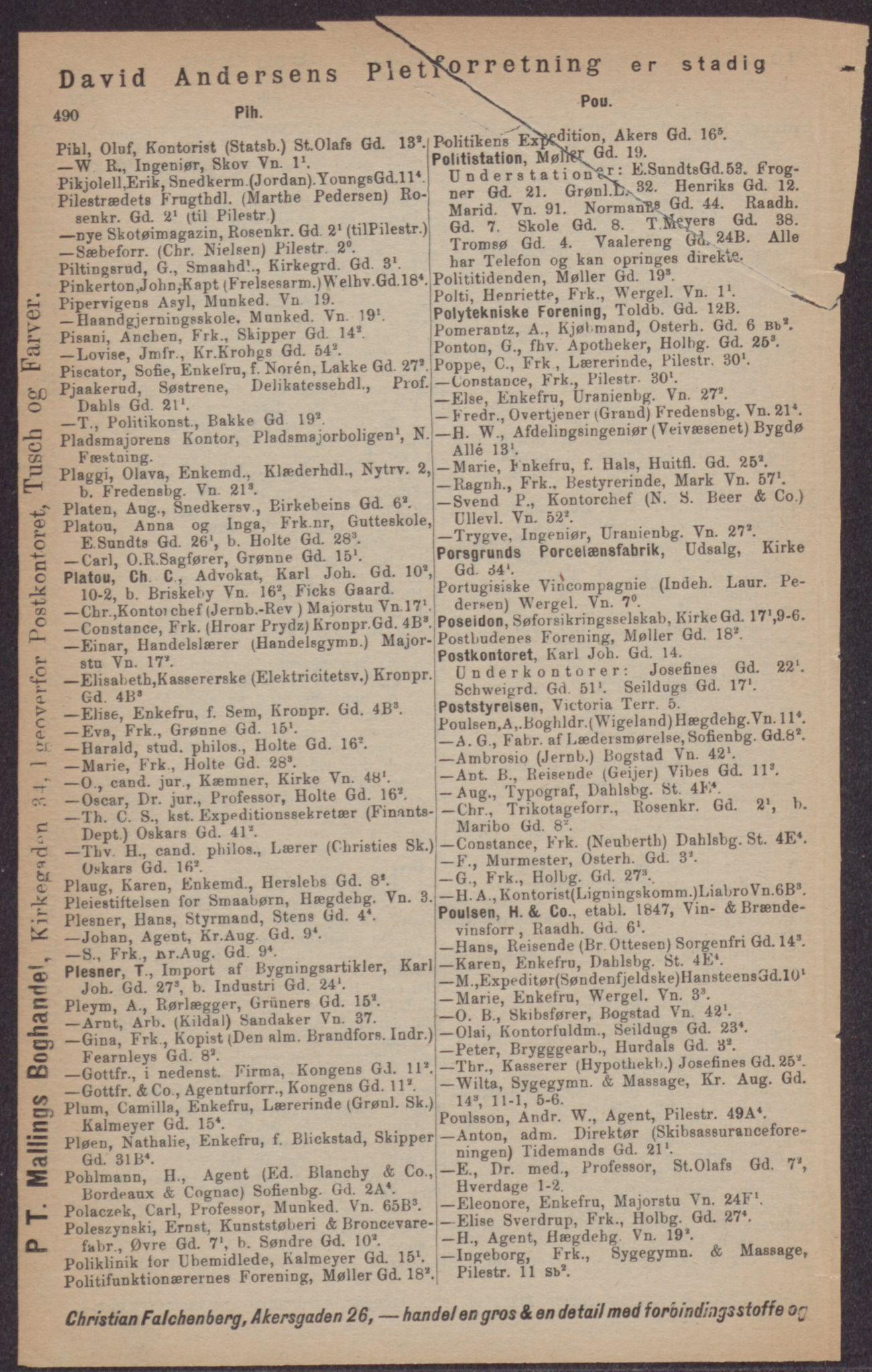 PUBL, Kristiania/Oslo adressebok, 1897, p. 490