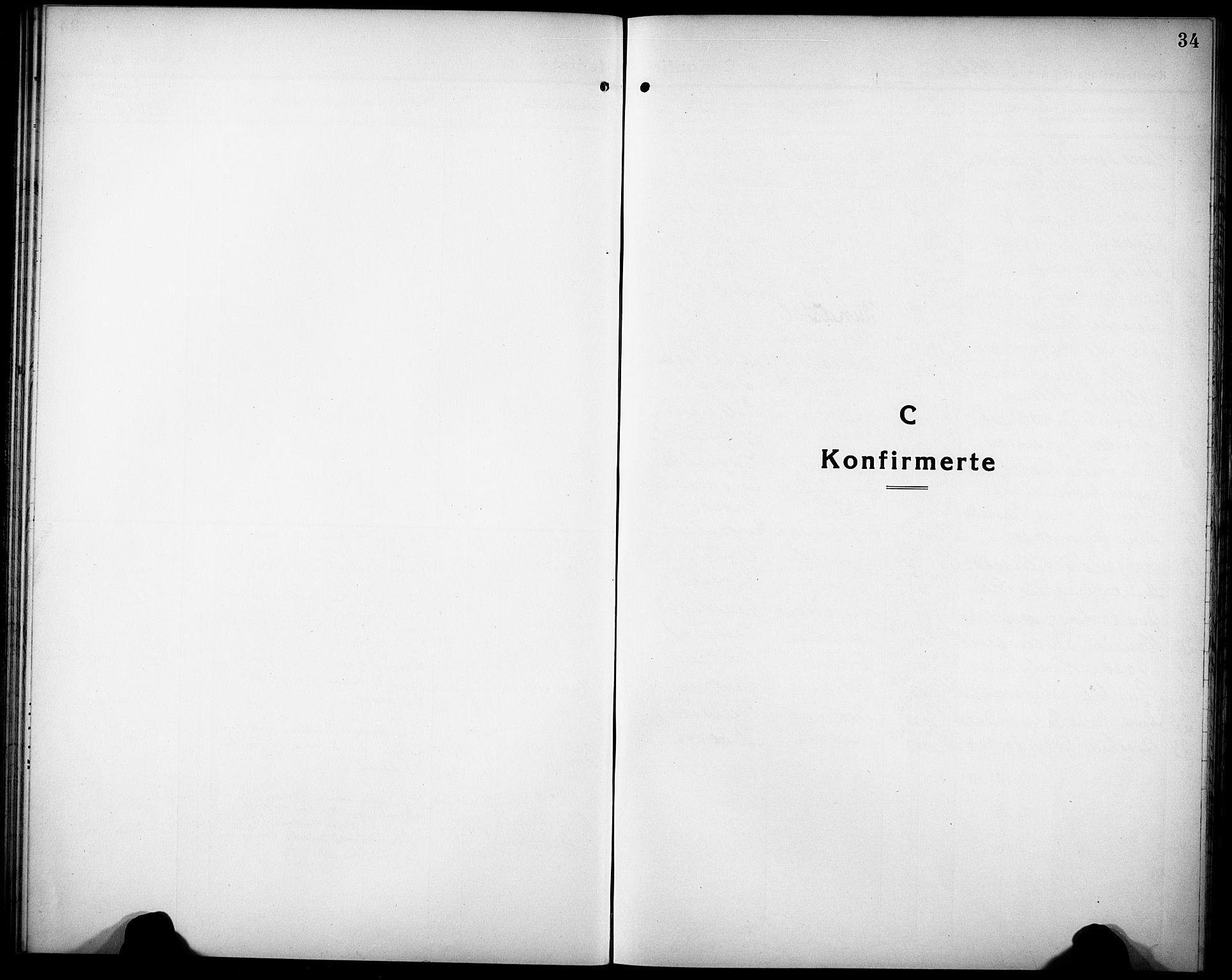 SAK, Herefoss sokneprestkontor, F/Fb/Fbb/L0004: Parish register (copy) no. B 4, 1917-1933, p. 34