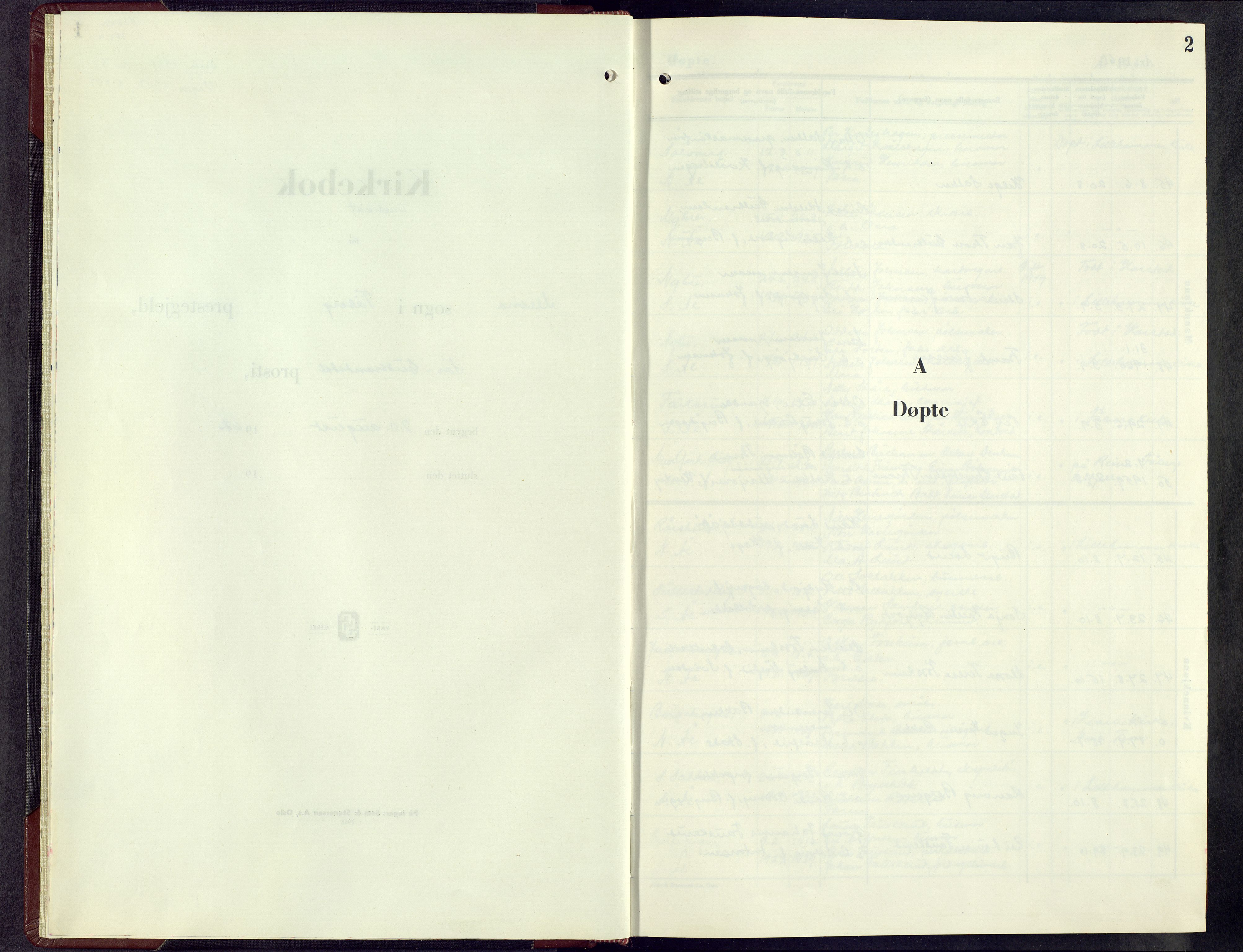 SAH, Fåberg prestekontor, H/Ha/Hab/L0020: Parish register (copy) no. 20, 1961-1968, p. 2
