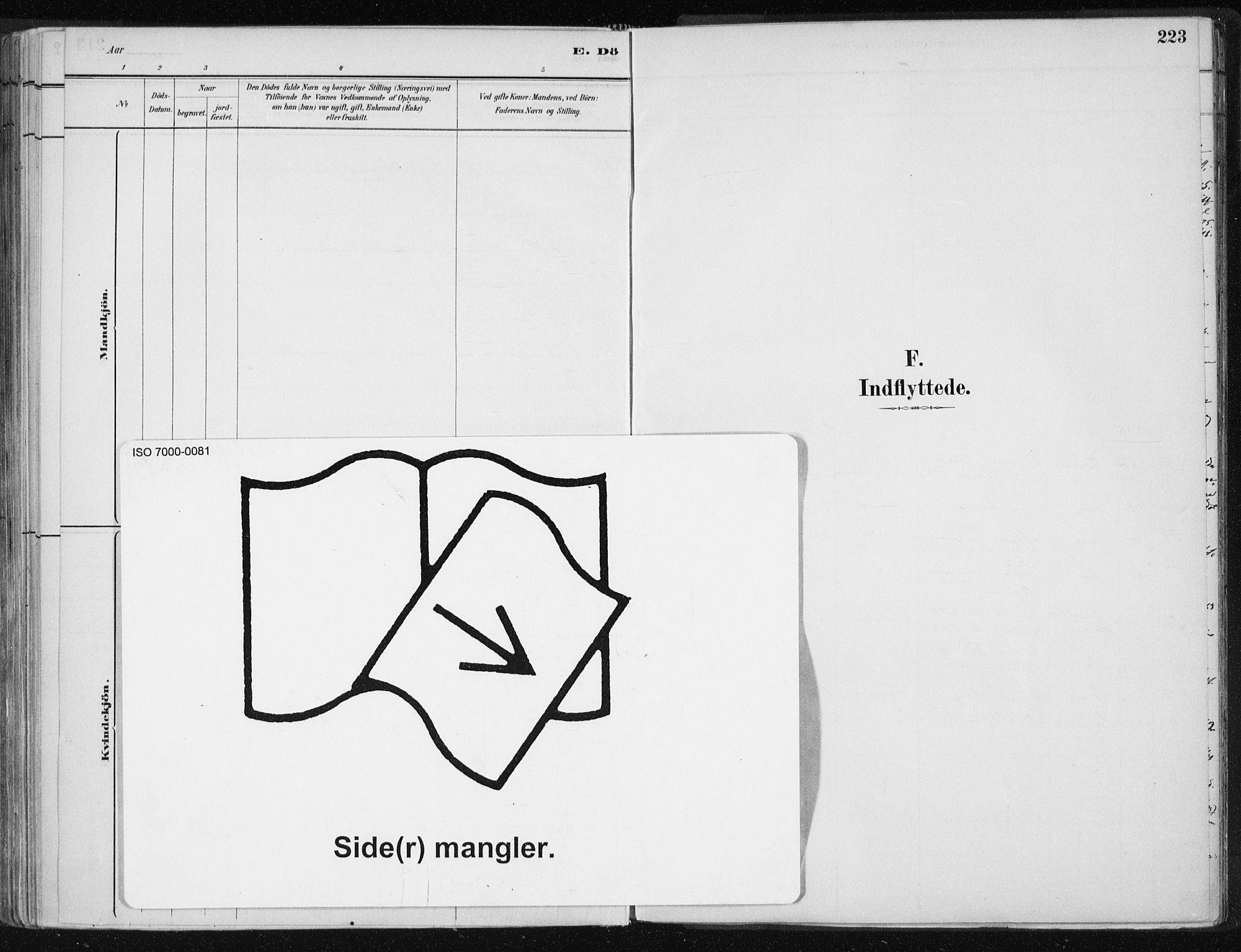 SAT, Ministerialprotokoller, klokkerbøker og fødselsregistre - Nord-Trøndelag, 701/L0010: Parish register (official) no. 701A10, 1883-1899, p. 223