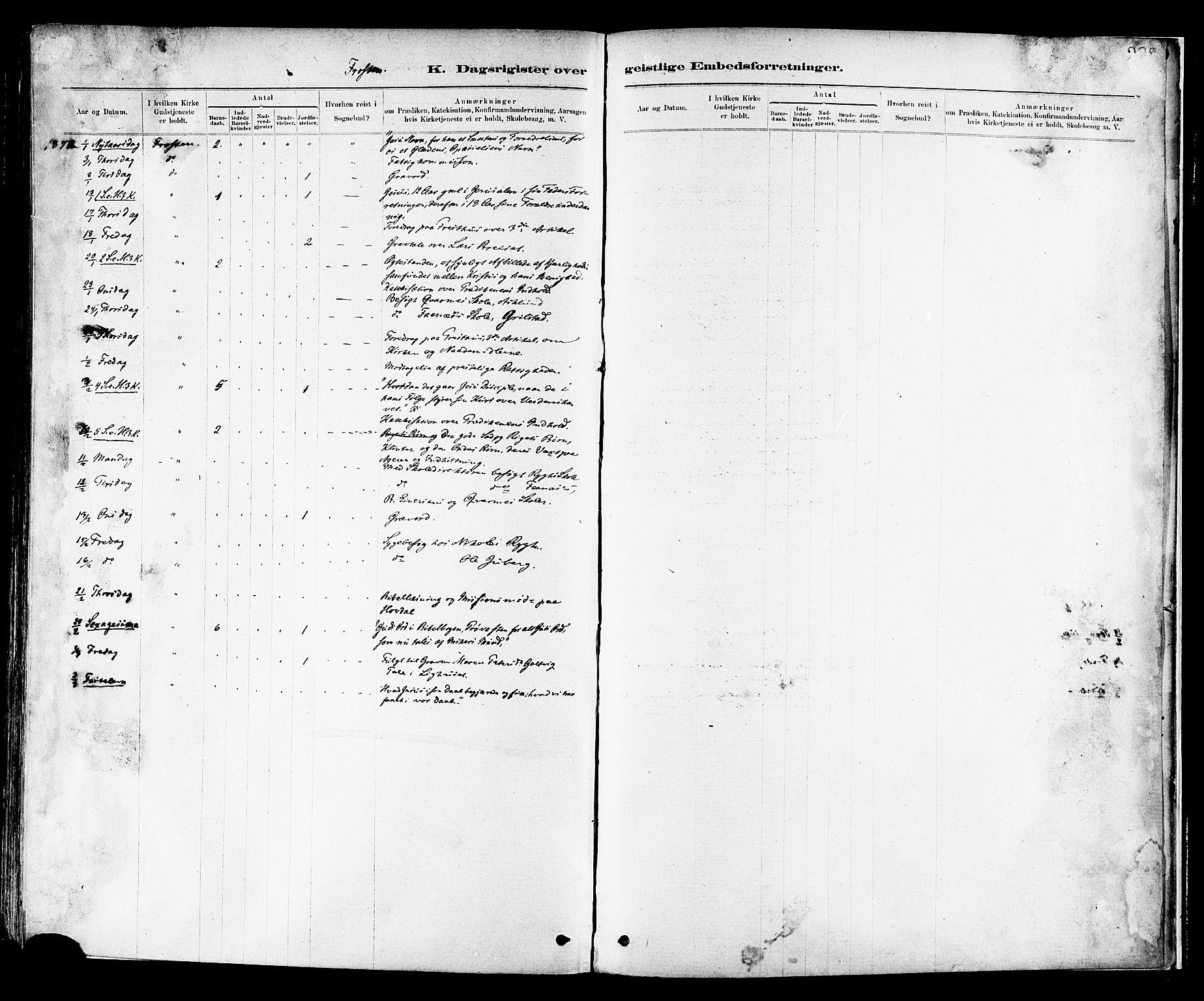 SAT, Ministerialprotokoller, klokkerbøker og fødselsregistre - Nord-Trøndelag, 713/L0120: Parish register (official) no. 713A09, 1878-1887, p. 288