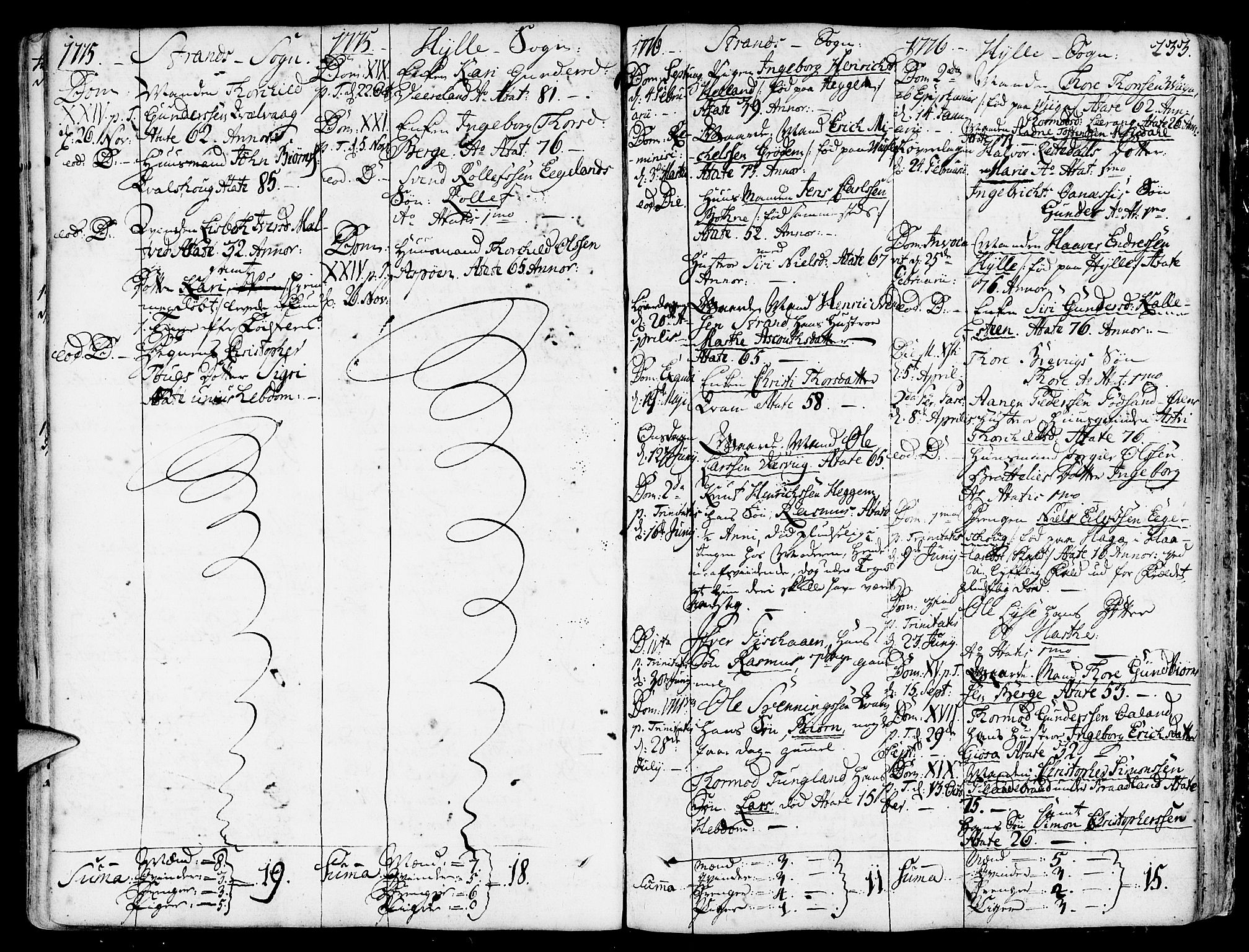 SAST, Strand sokneprestkontor, H/Ha/Haa/L0003: Parish register (official) no. A 3, 1769-1816, p. 233