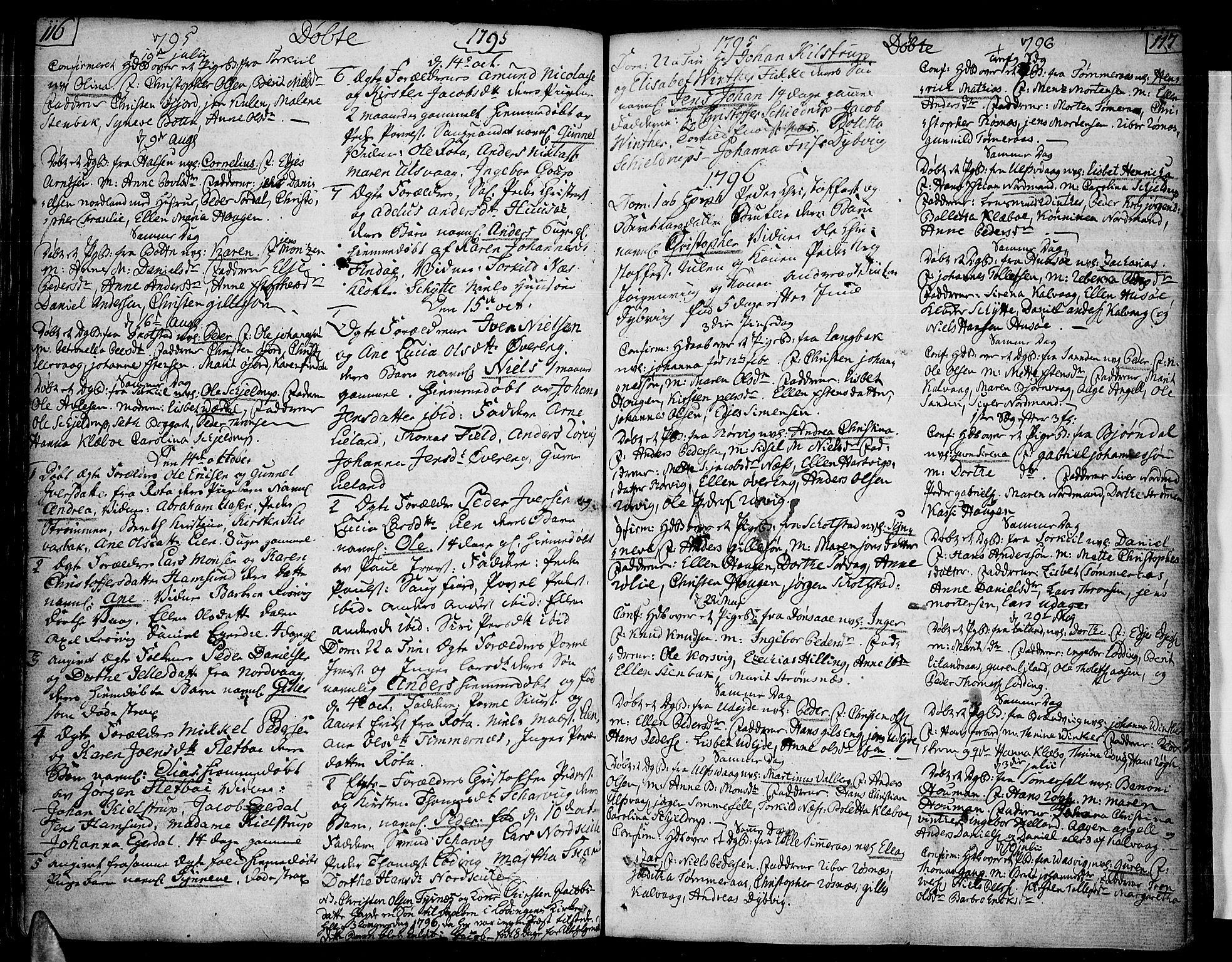 SAT, Ministerialprotokoller, klokkerbøker og fødselsregistre - Nordland, 859/L0841: Parish register (official) no. 859A01, 1766-1821, p. 116-117