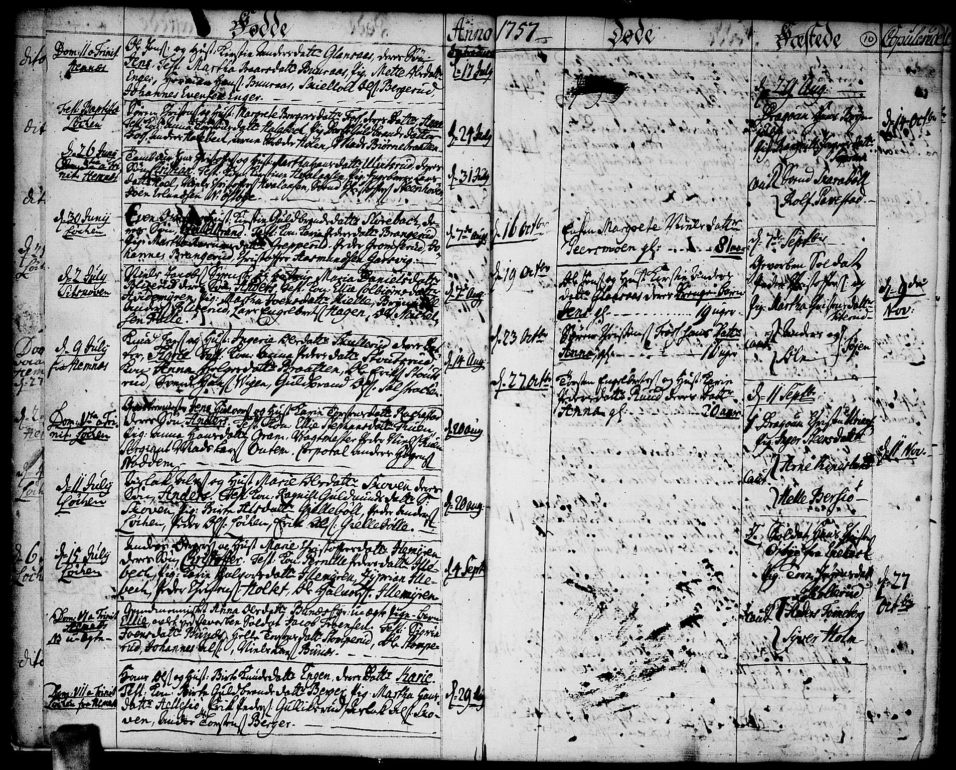 SAO, Høland prestekontor Kirkebøker, F/Fa/L0004: Parish register (official) no. I 4, 1757-1780, p. 10