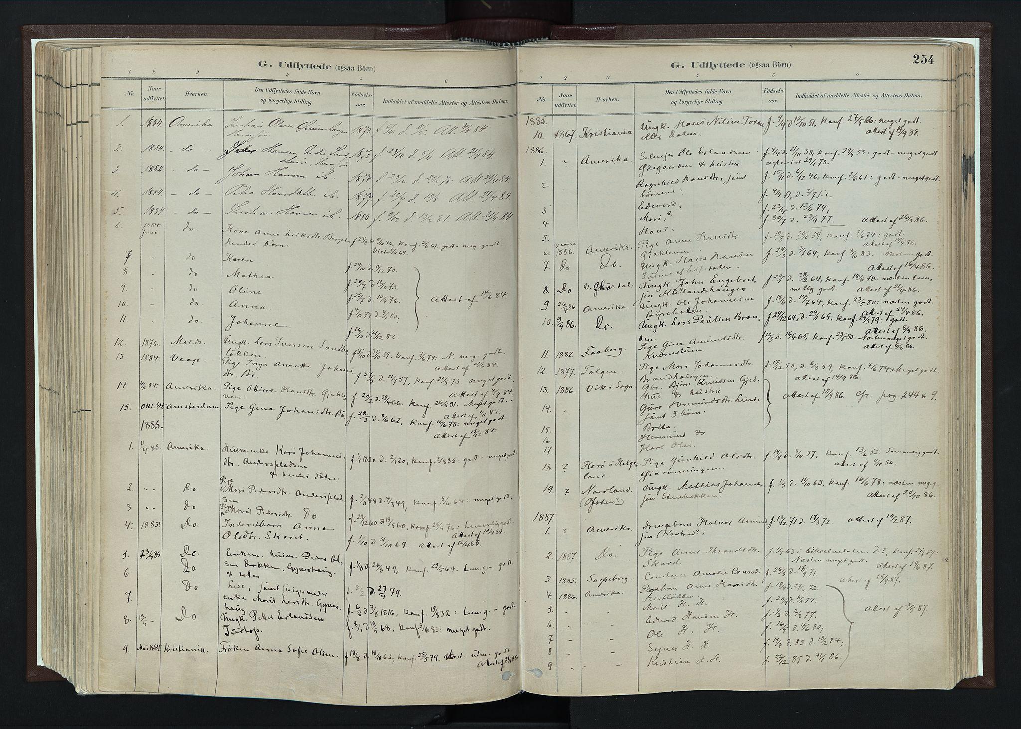 SAH, Nord-Fron prestekontor, Parish register (official) no. 4, 1884-1914, p. 254