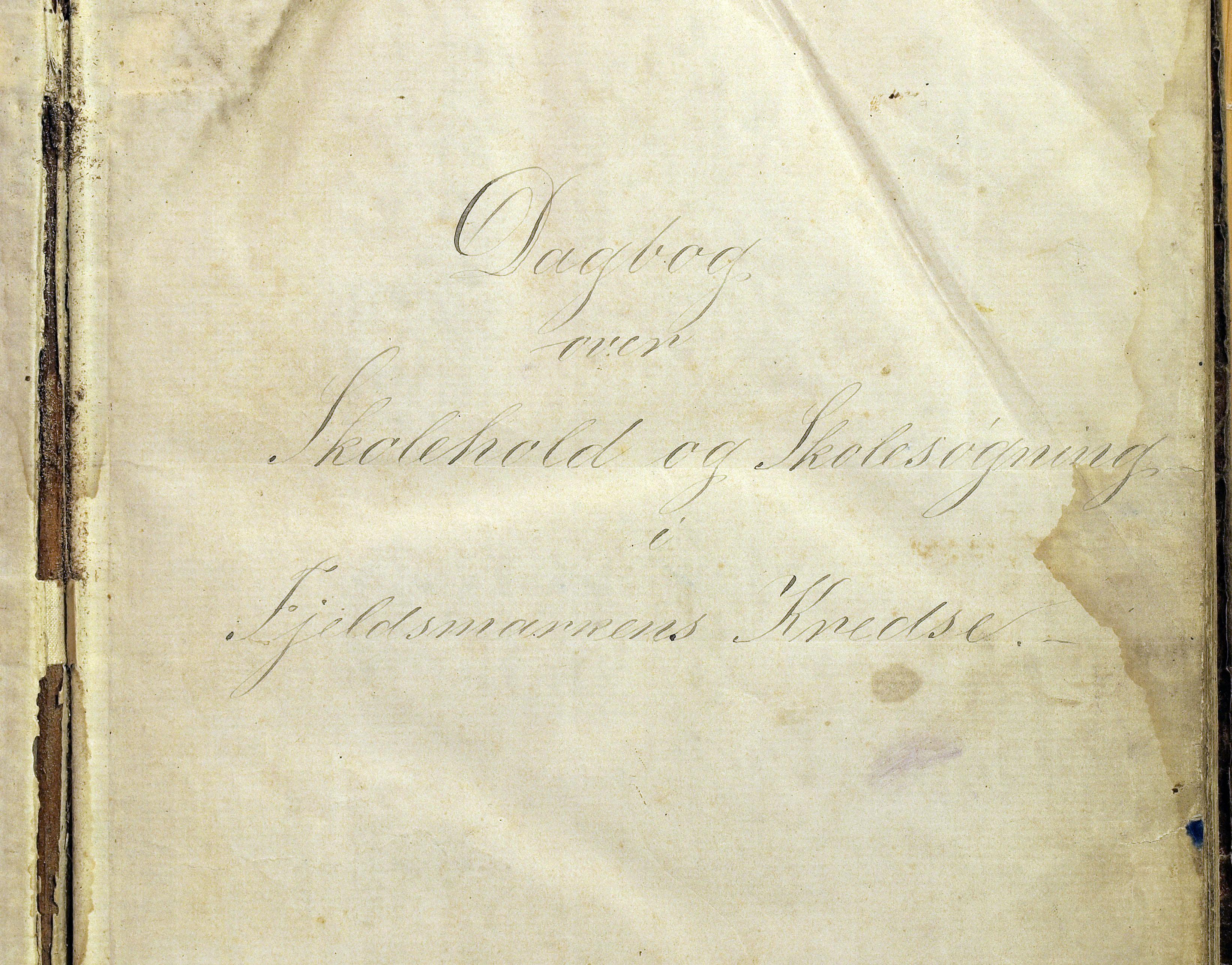 KVT, Vestre Toten kommunearkiv*, -: Skolehold- og skolesøkningsprotokoll, Fjeldsmarken krets i Vestre Toten skolekommune, 1863-1885, p. 1
