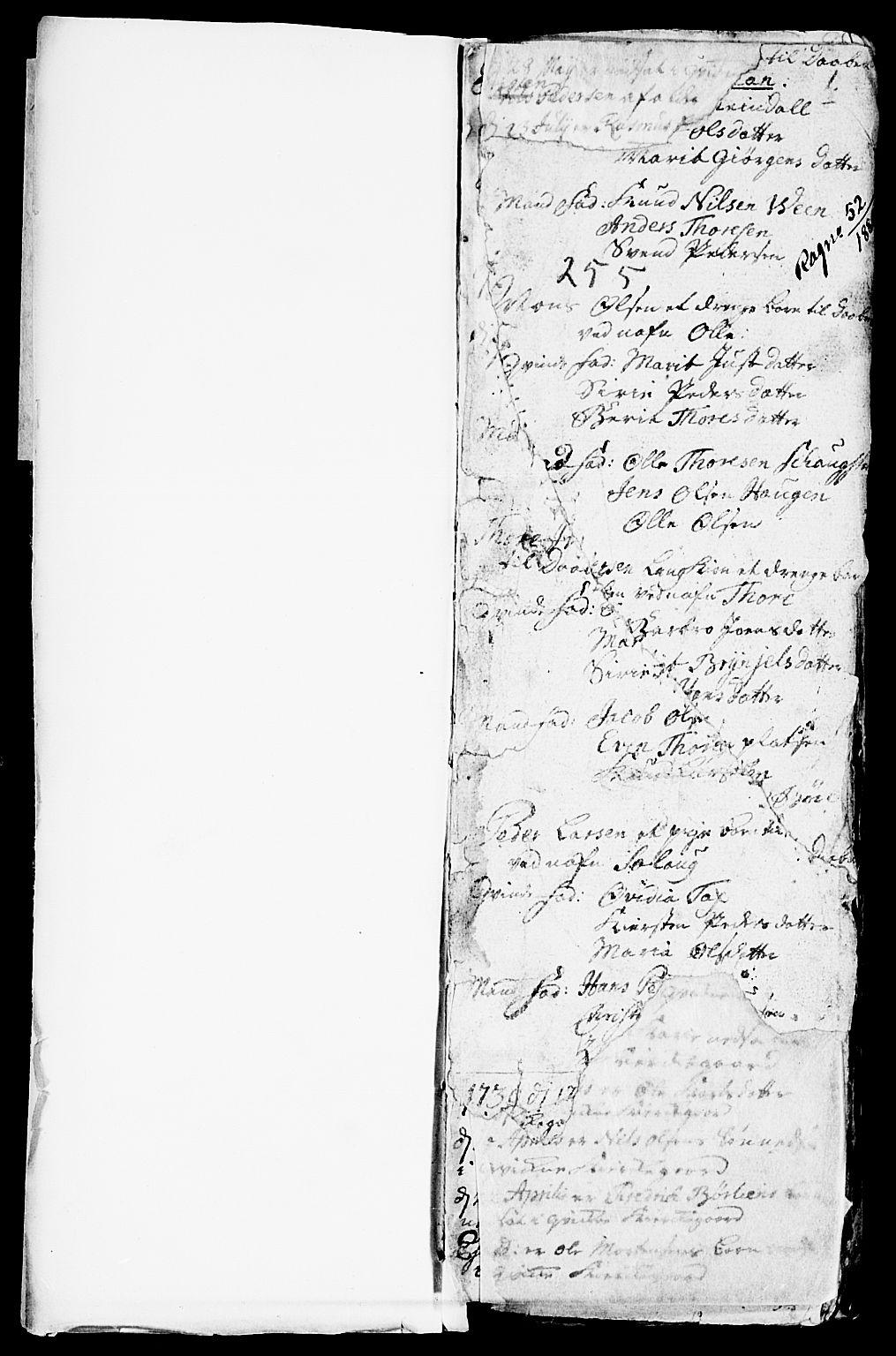 SAH, Kvikne prestekontor, Parish register (official) no. 1, 1740-1756, p. 0-1