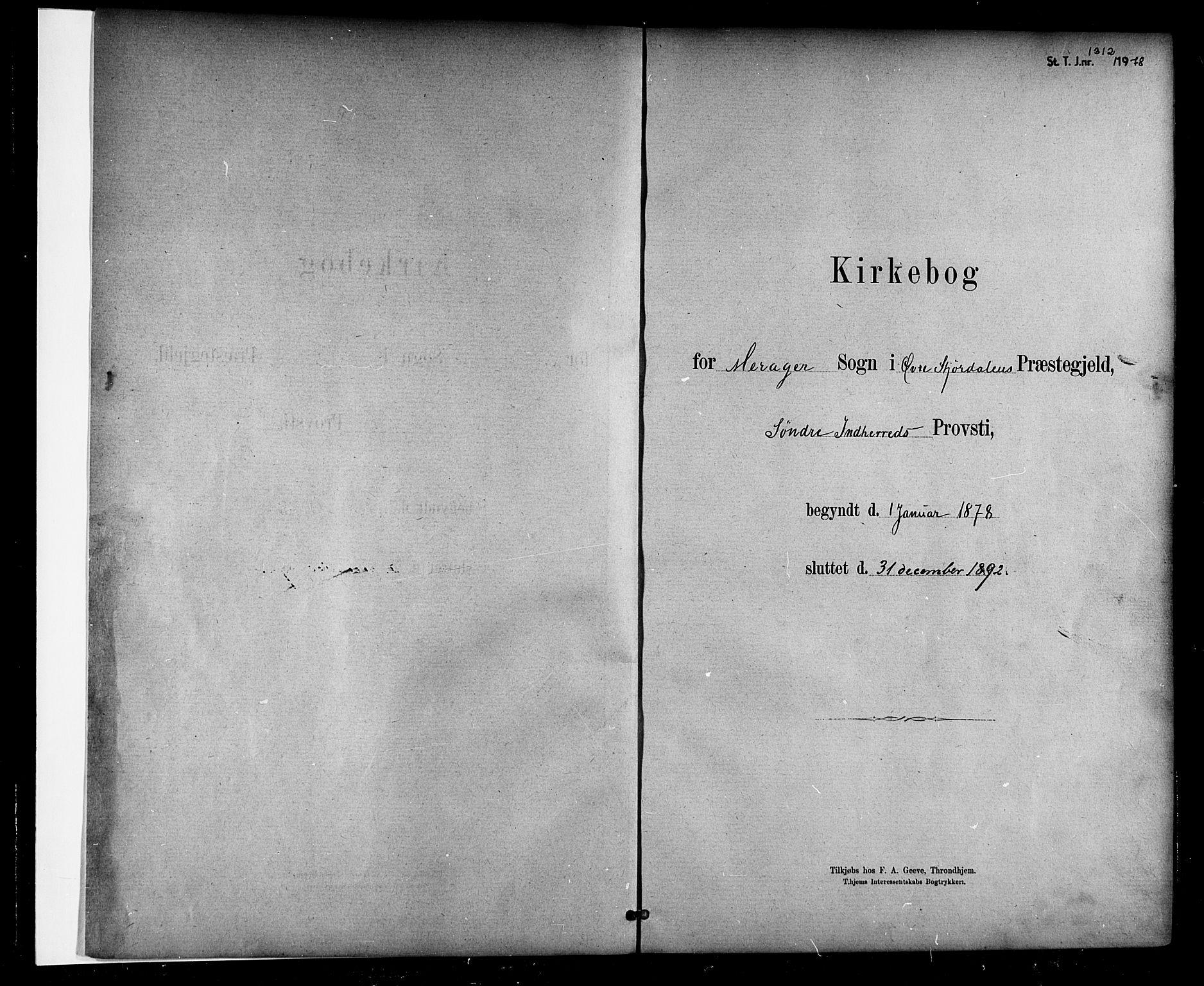 SAT, Ministerialprotokoller, klokkerbøker og fødselsregistre - Nord-Trøndelag, 706/L0047: Parish register (official) no. 706A03, 1878-1892