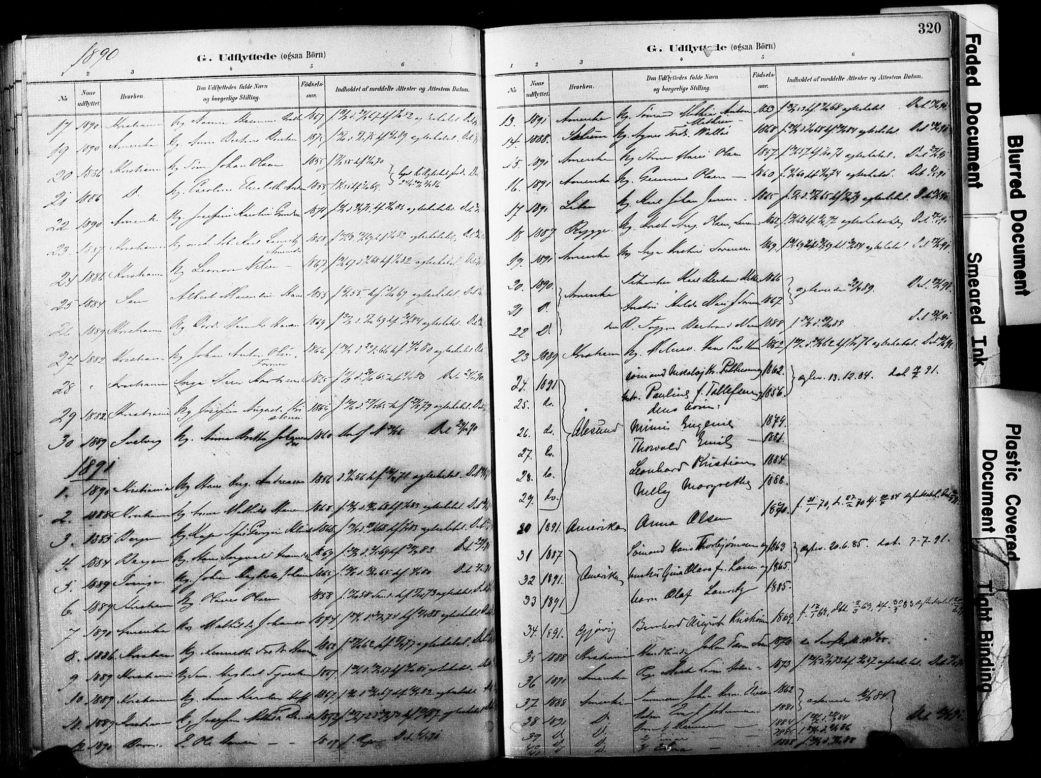SAKO, Horten kirkebøker, F/Fa/L0004: Parish register (official) no. 4, 1888-1895, p. 320