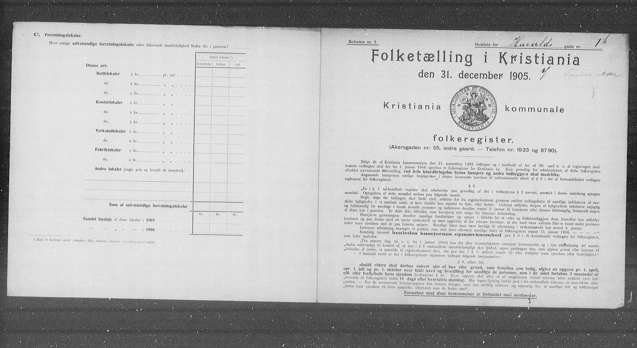 OBA, Municipal Census 1905 for Kristiania, 1905, p. 18021