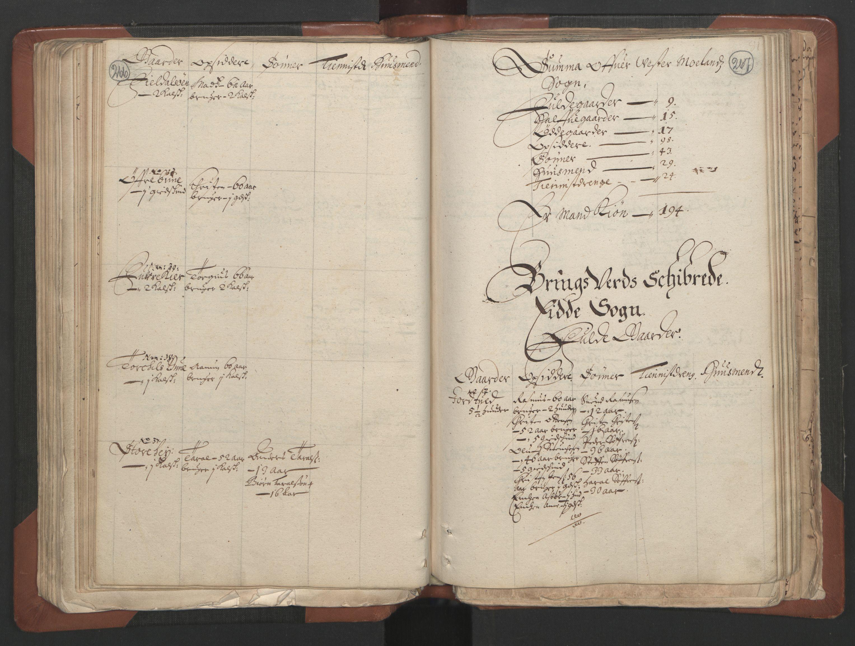 RA, Bailiff's Census 1664-1666, no. 7: Nedenes fogderi, 1664-1666, p. 266-267